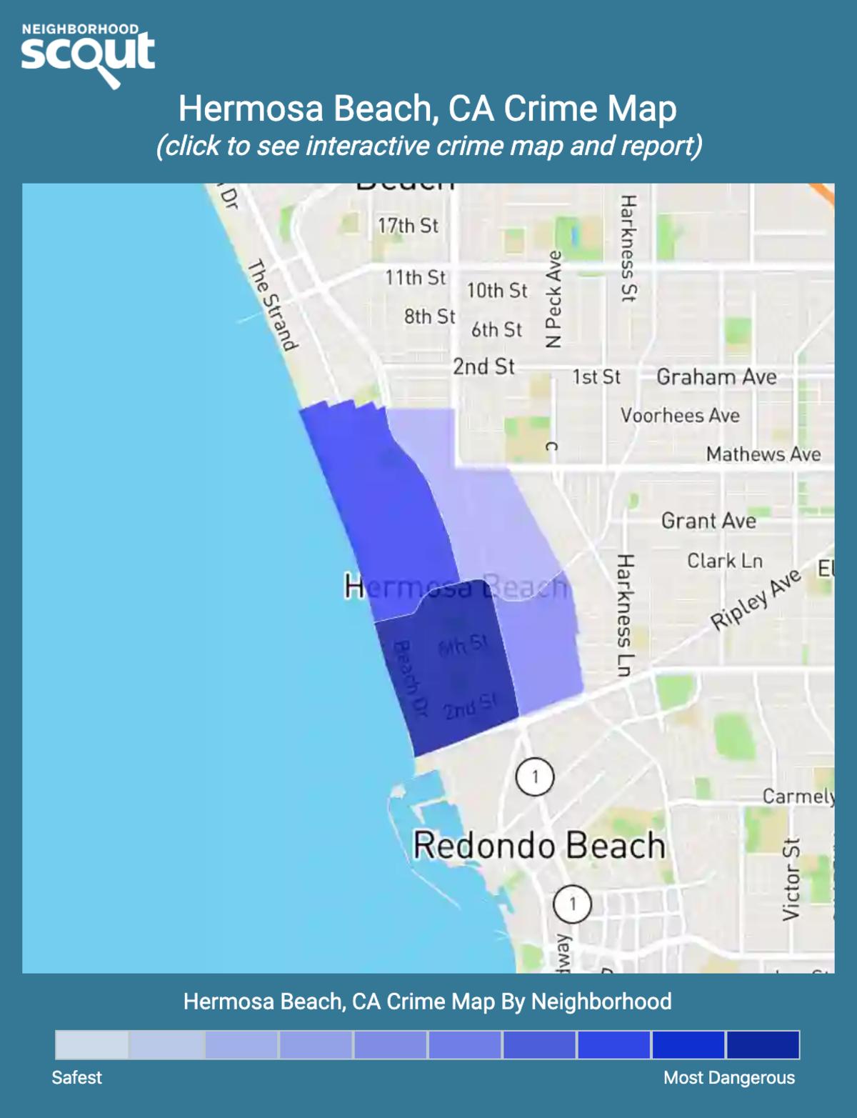 Hermosa Beach, California crime map