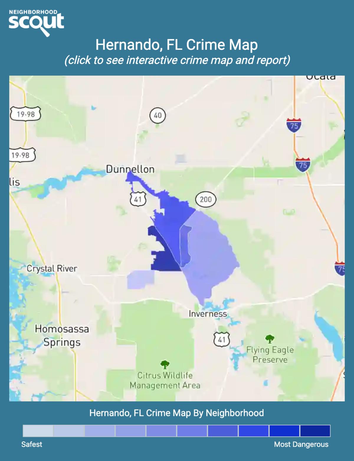 Hernando, Florida crime map