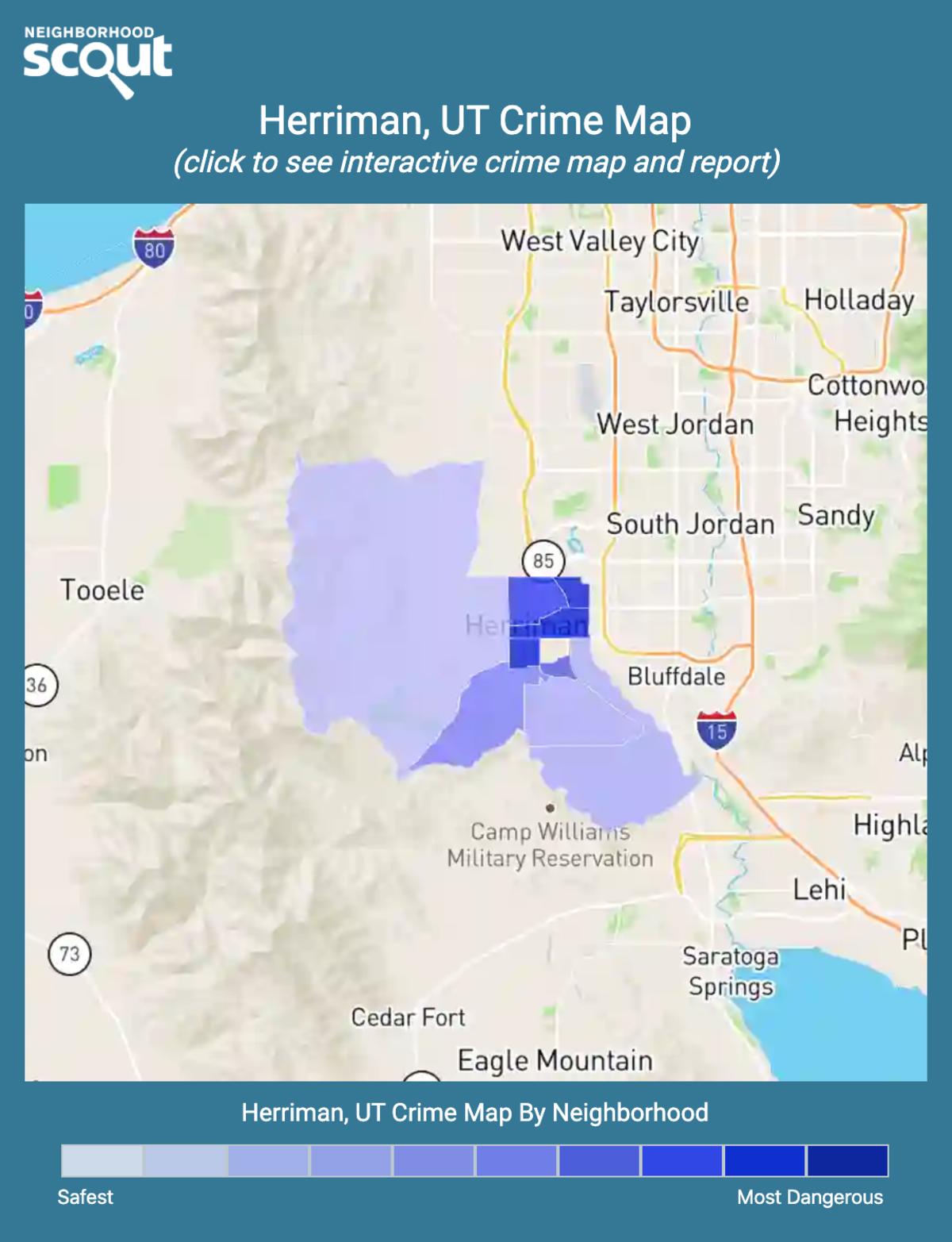 Herriman, Utah crime map