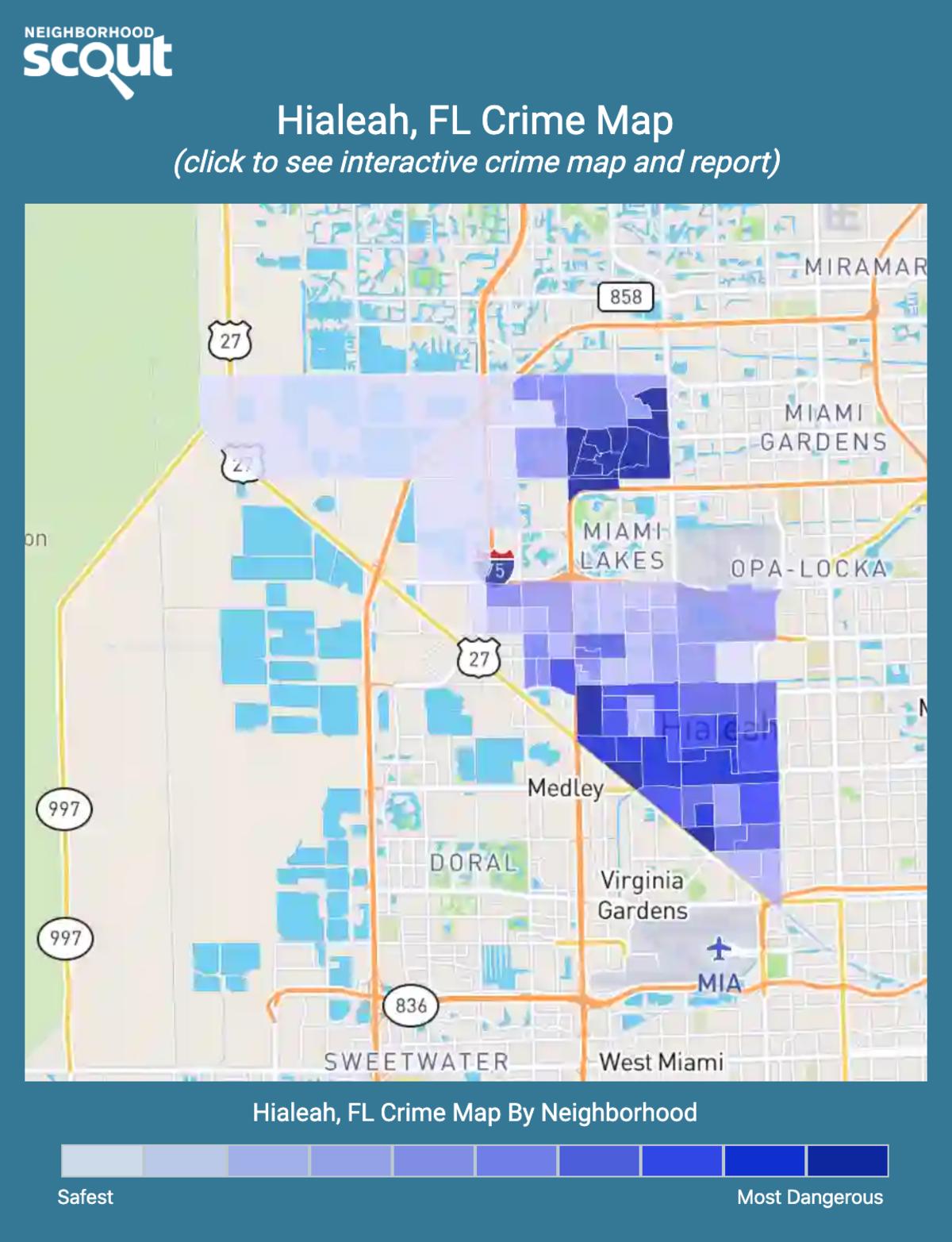 Hialeah, Florida crime map
