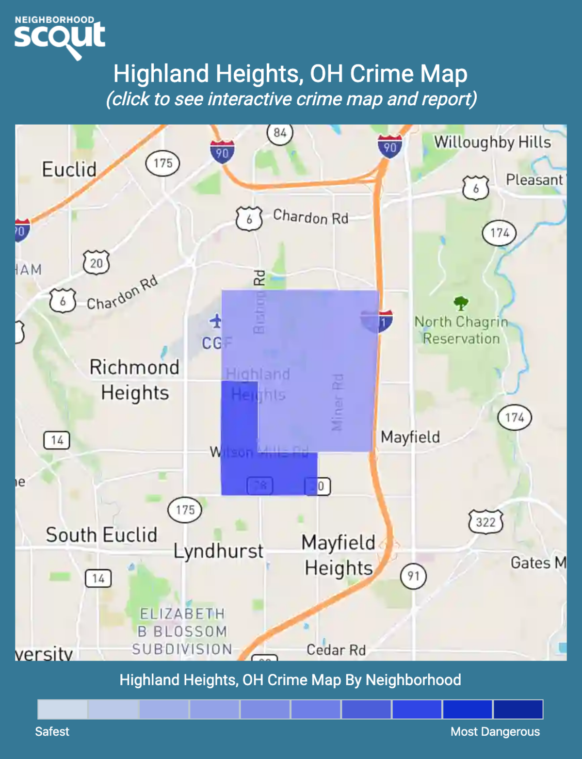 Highland Heights, Ohio crime map