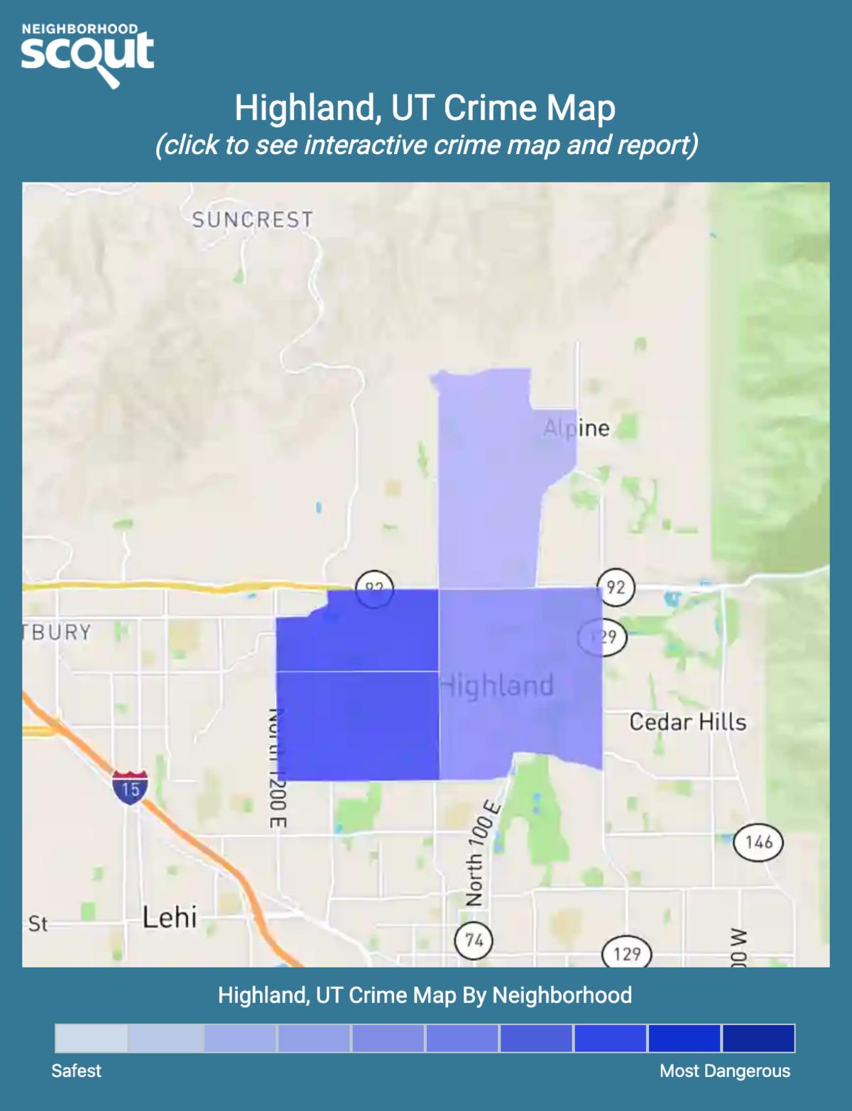 Highland, Utah crime map