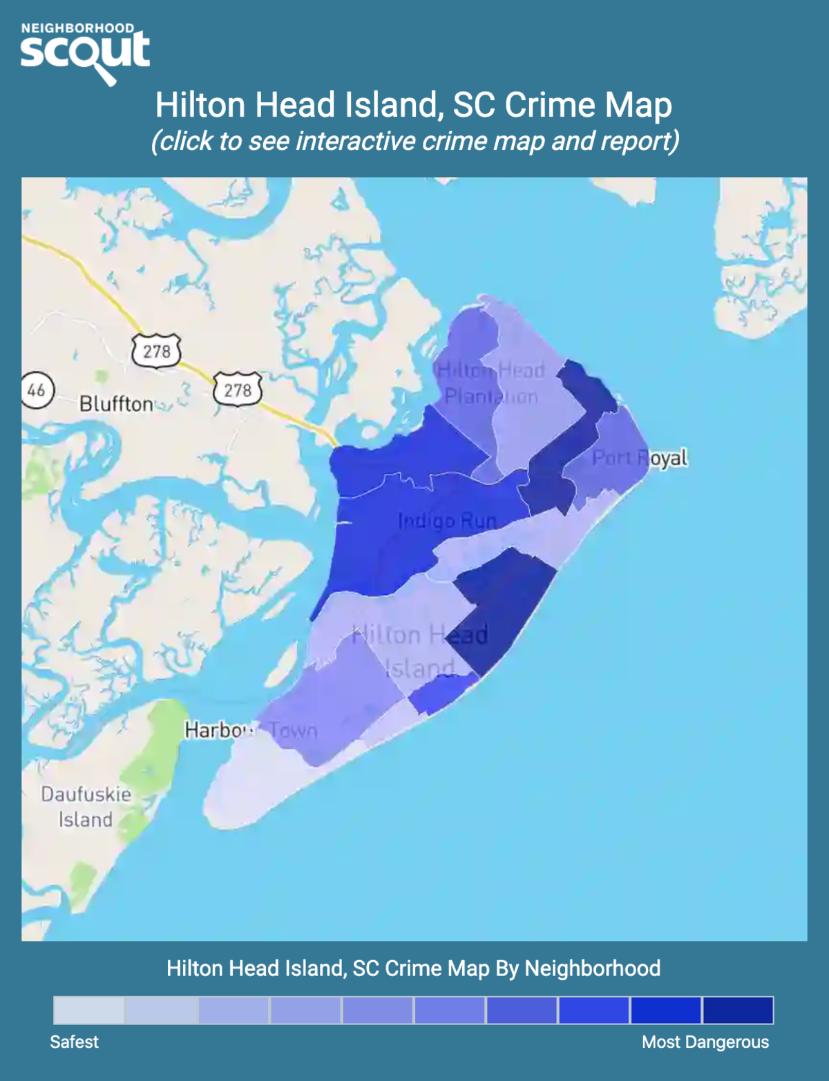 Hilton Head Island, South Carolina crime map