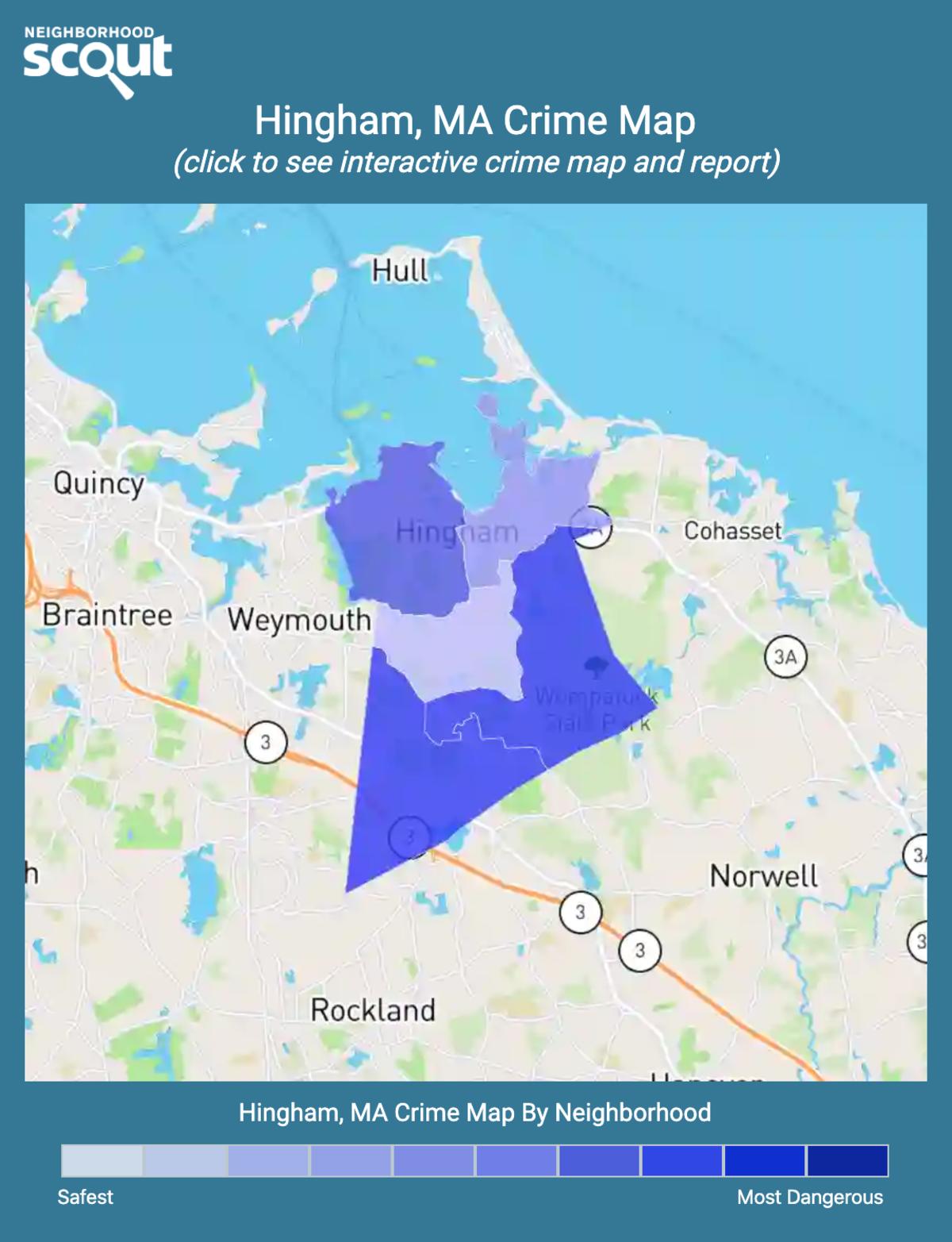 Hingham, Massachusetts crime map