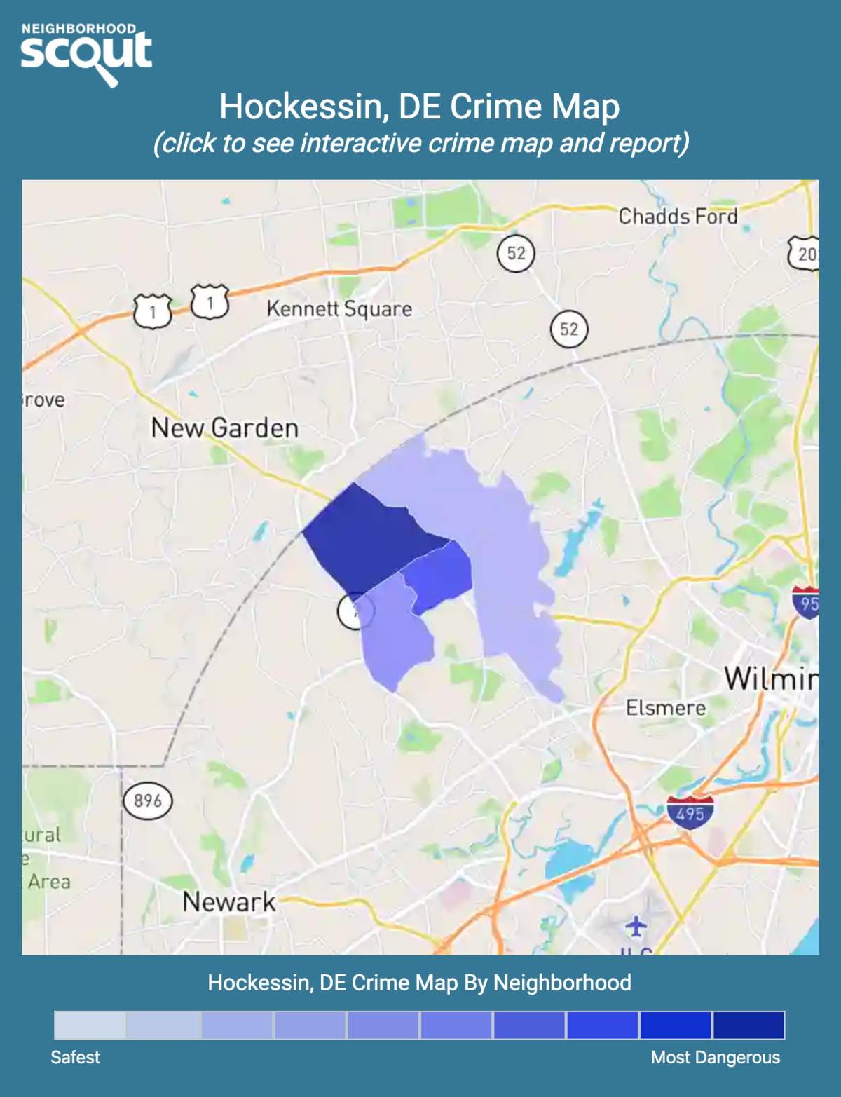 Hockessin, Delaware crime map