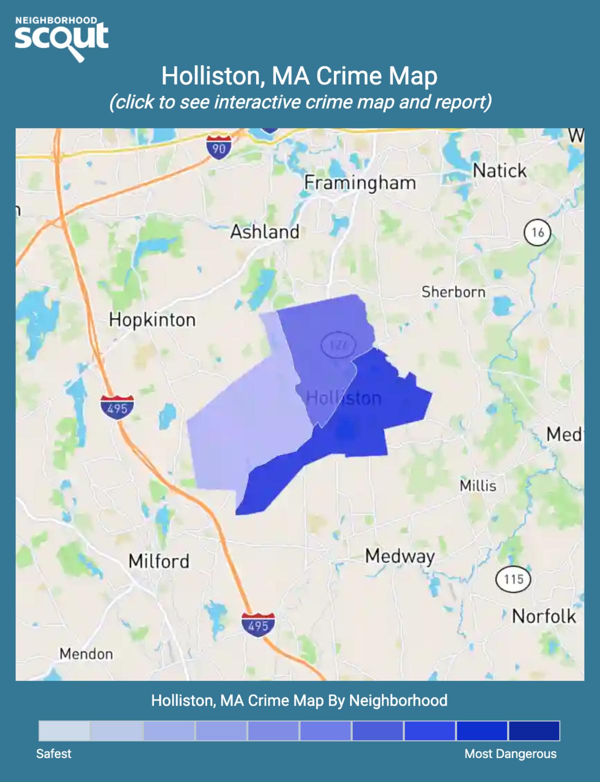 Holliston, Massachusetts crime map