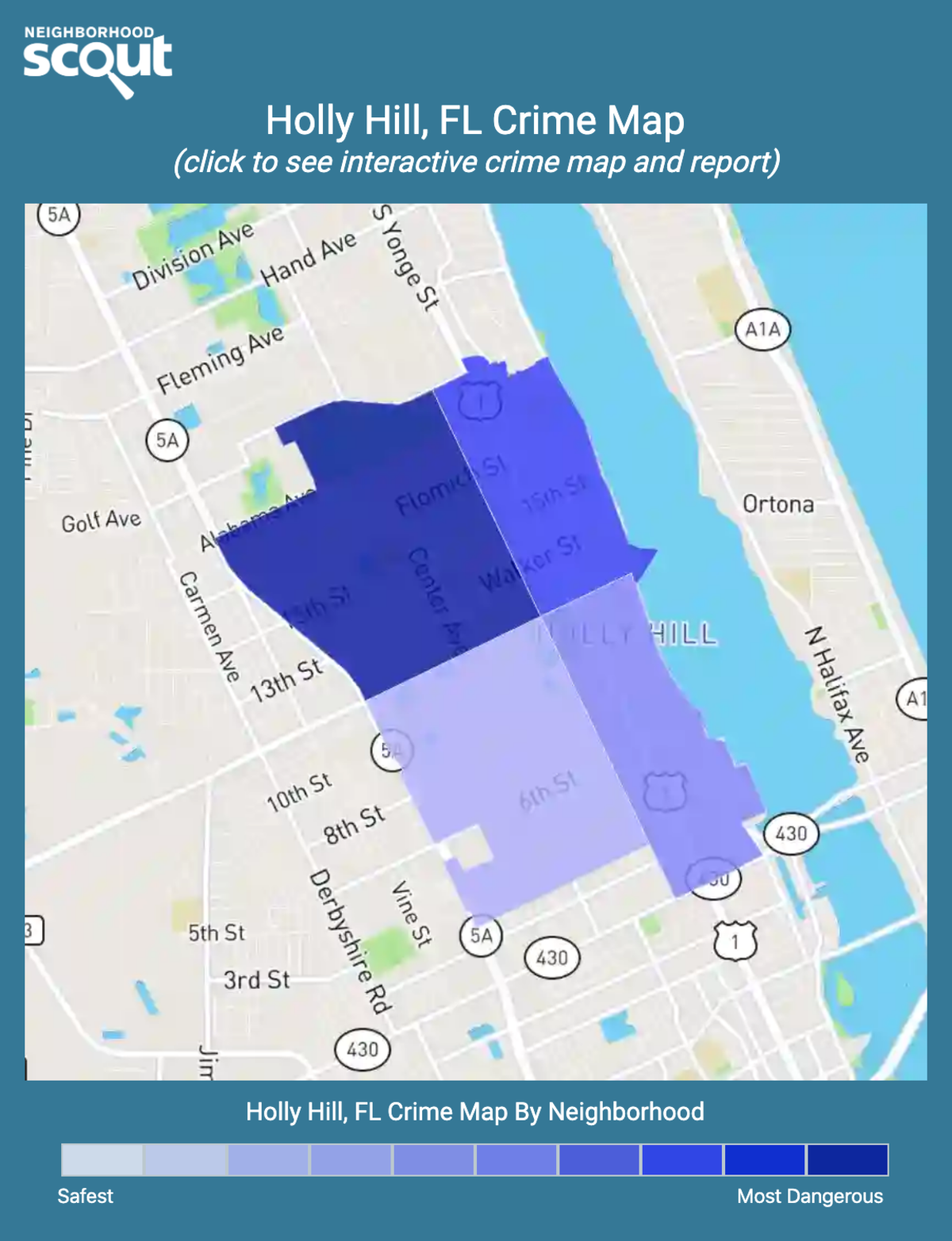 Holly Hill, Florida crime map