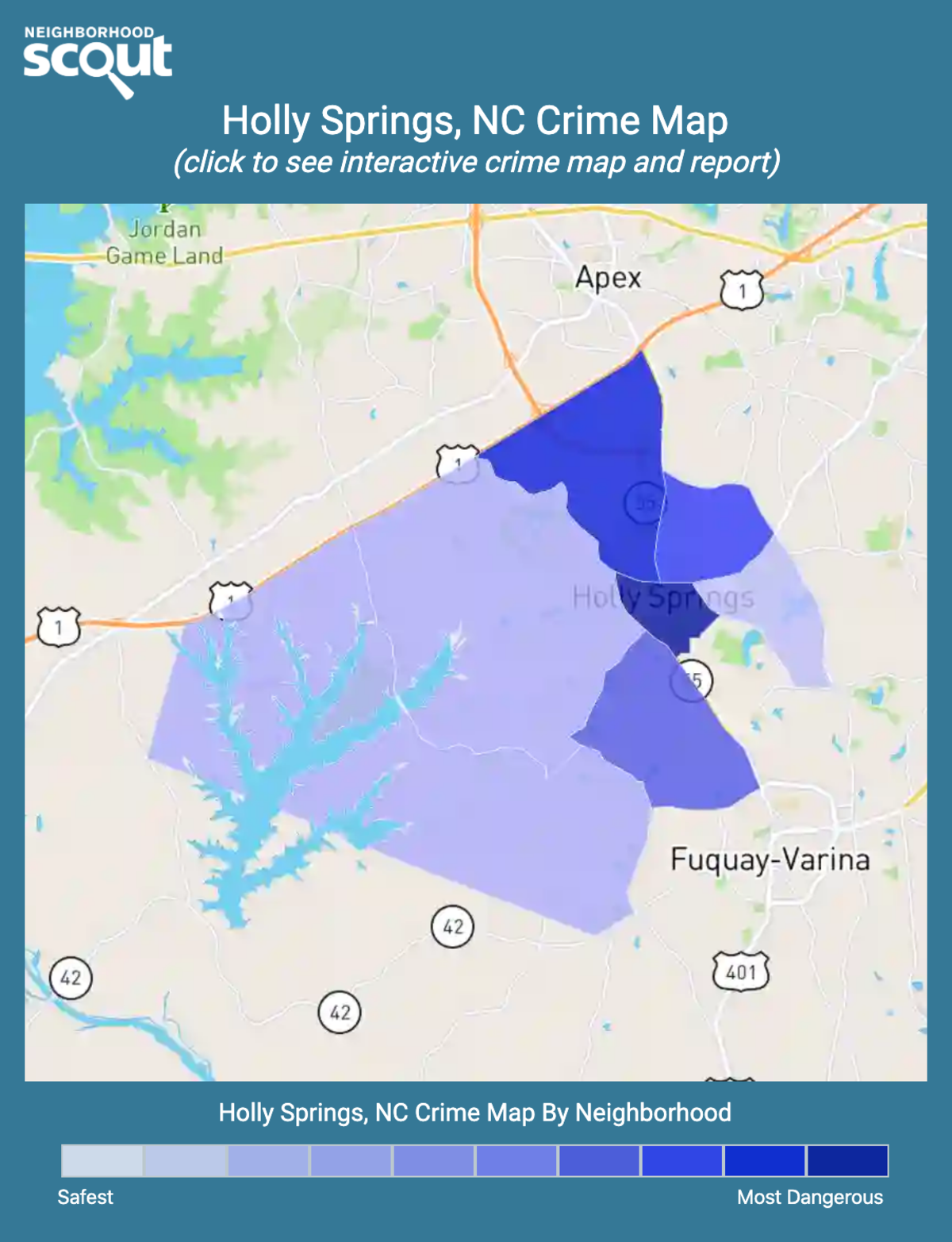 Holly Springs, North Carolina crime map