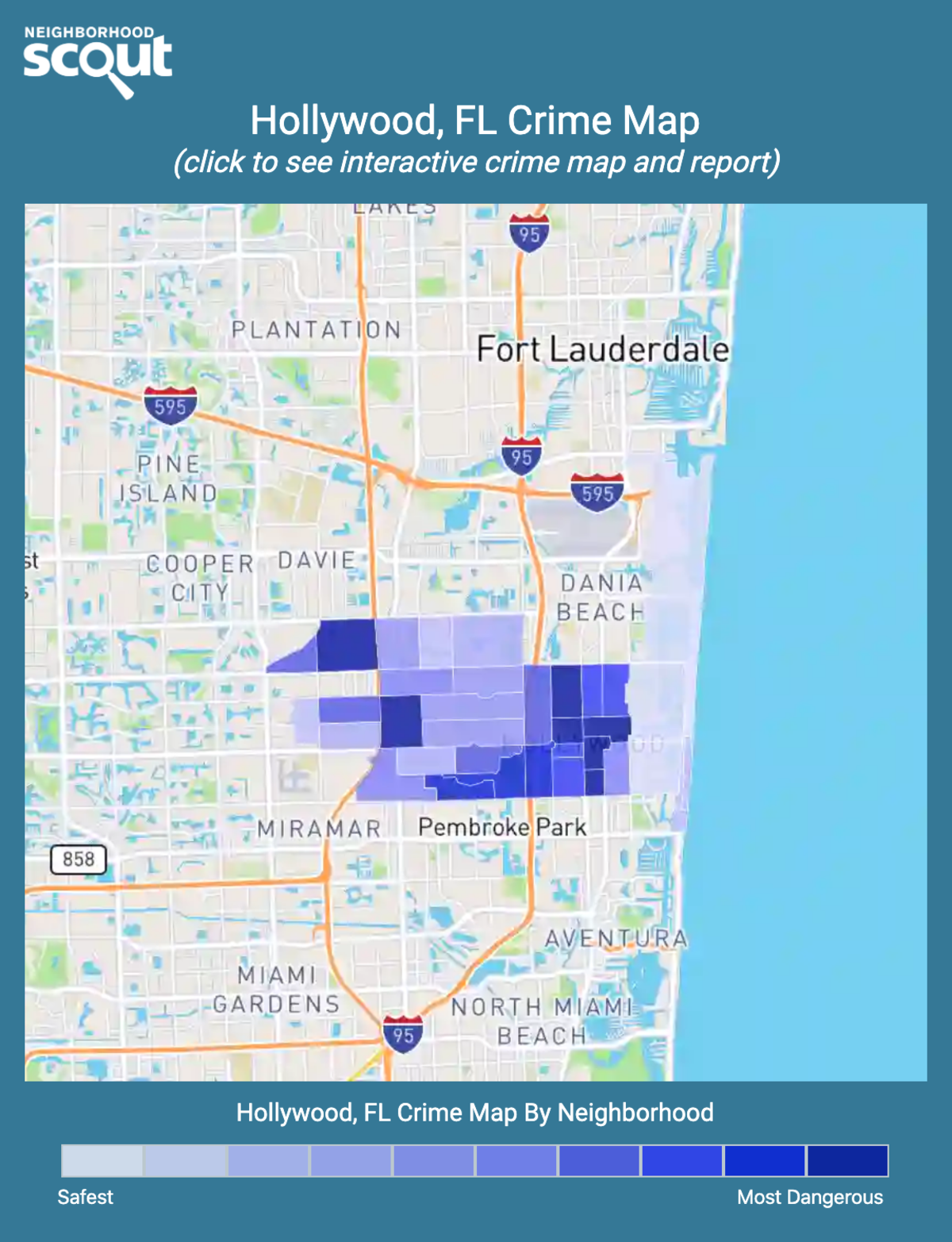 Hollywood, Florida crime map
