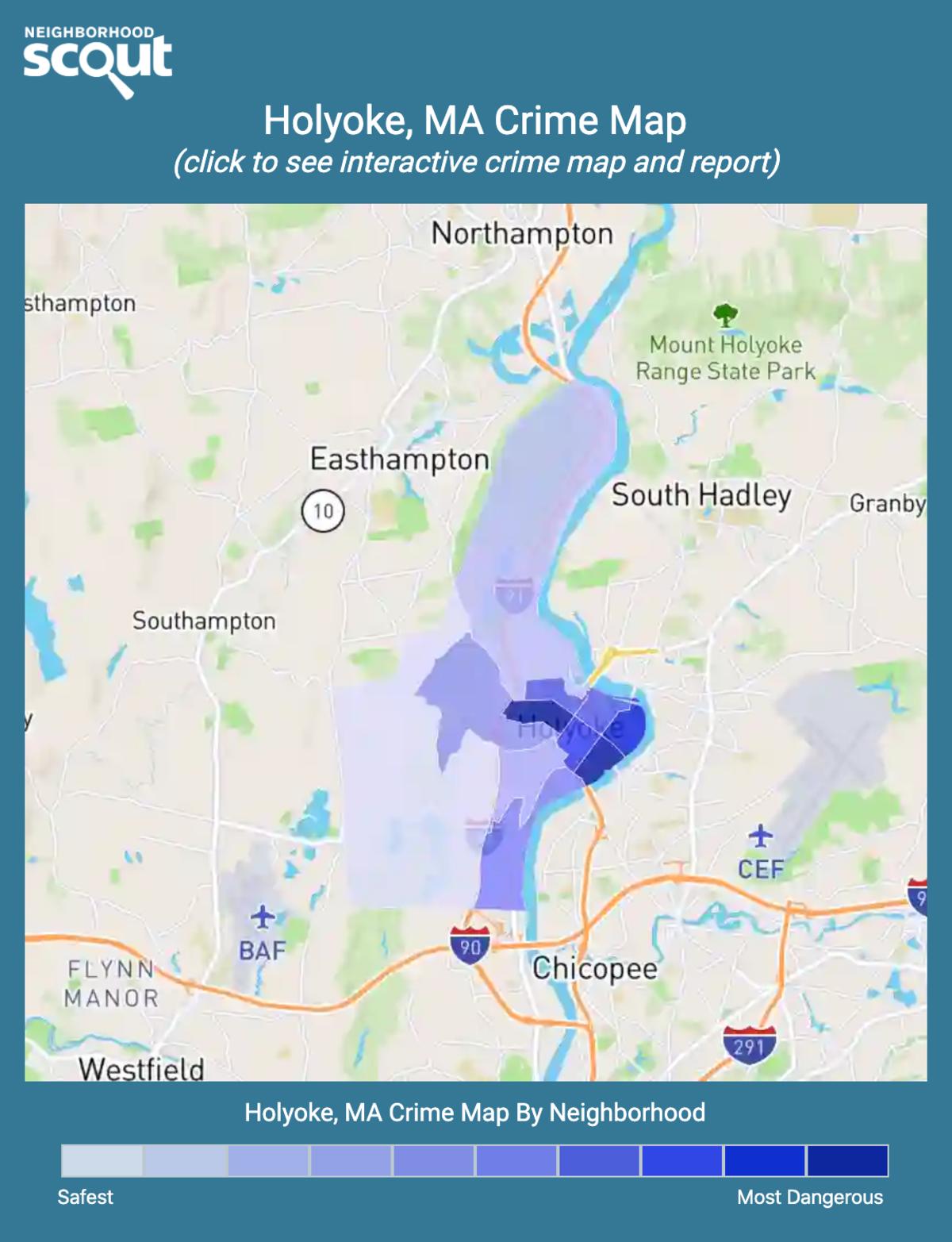 Holyoke, Massachusetts crime map