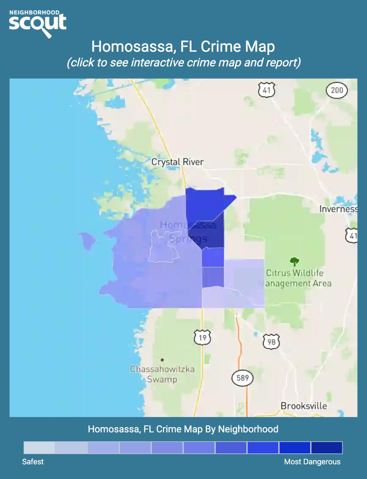 Homosassa, Florida crime map