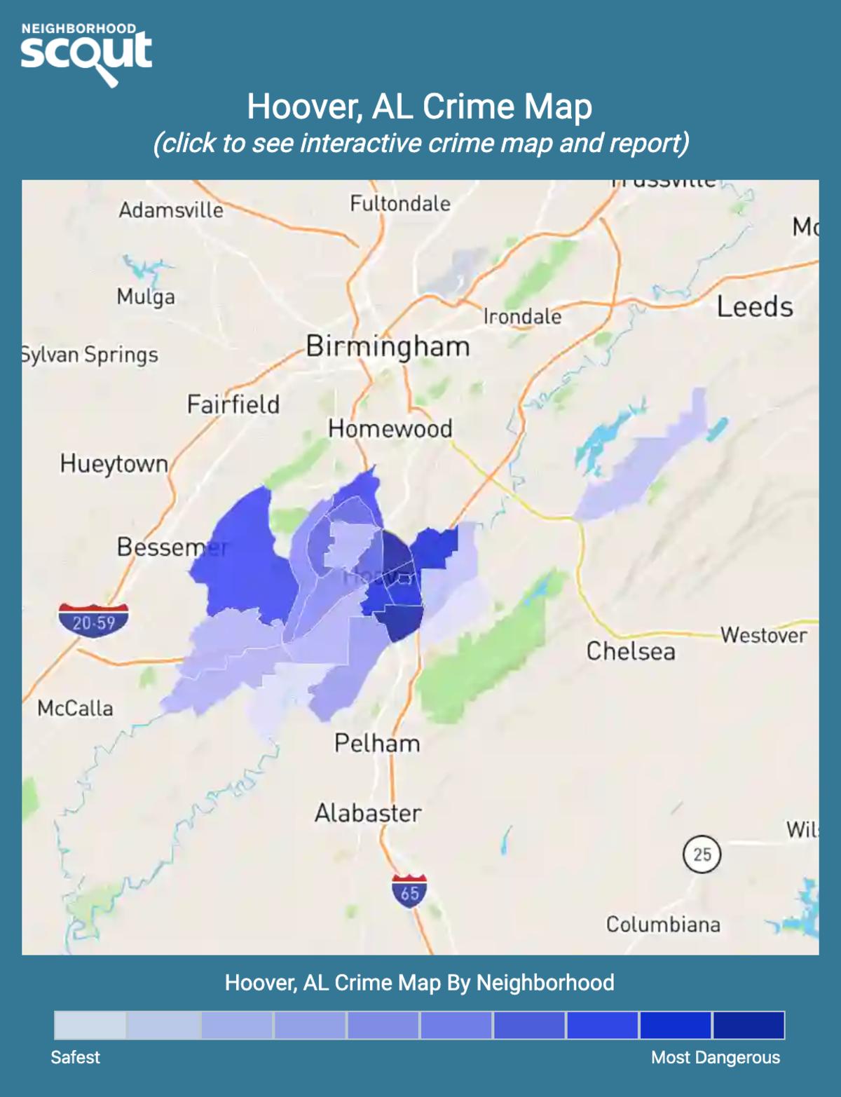 Hoover, Alabama crime map