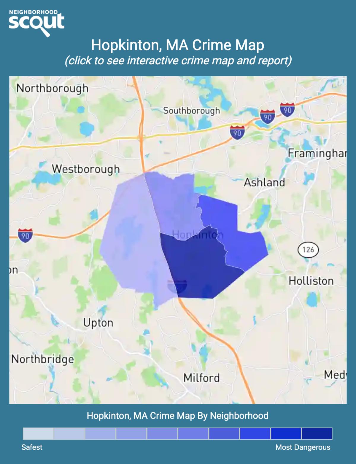 Hopkinton, Massachusetts crime map