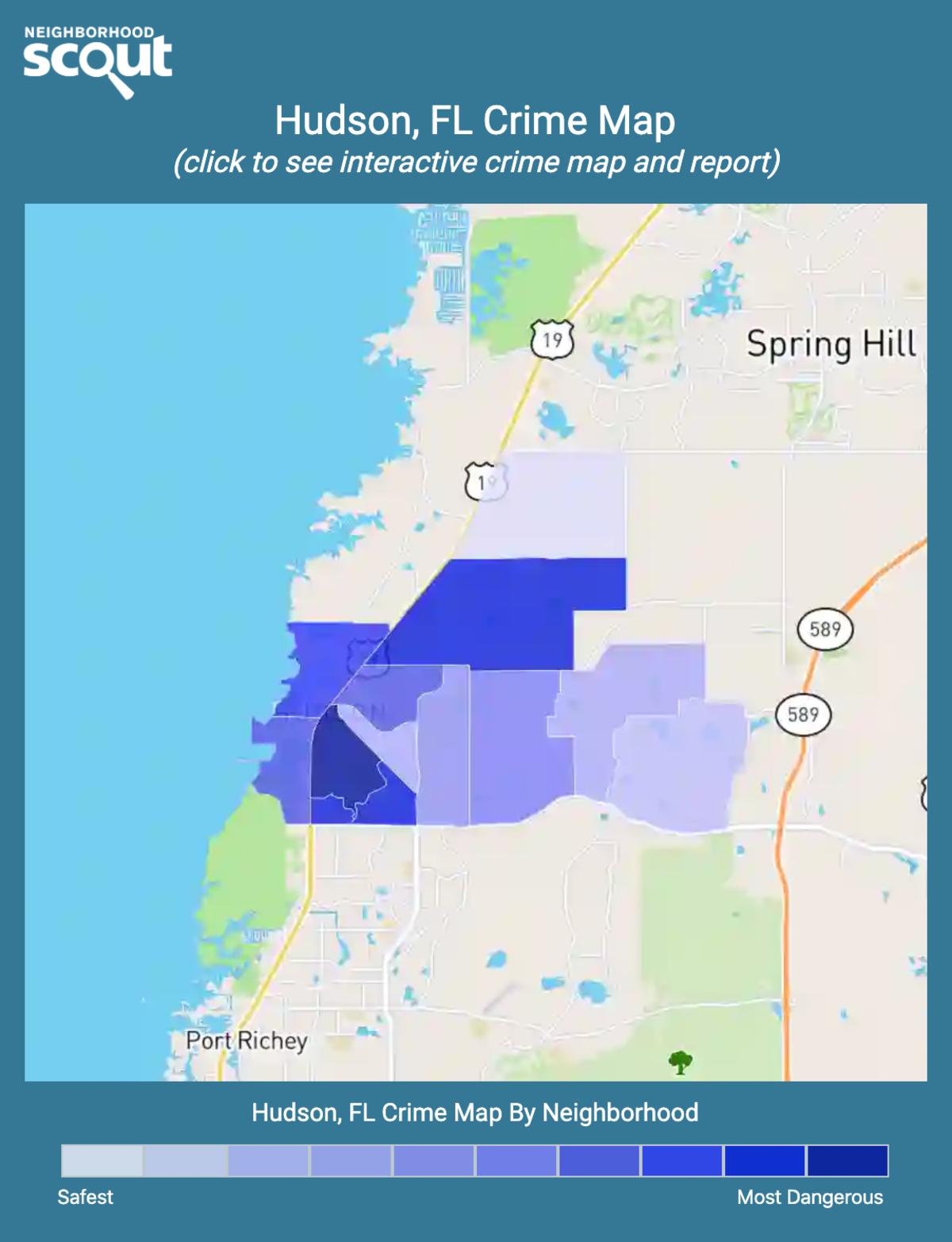Hudson, Florida crime map