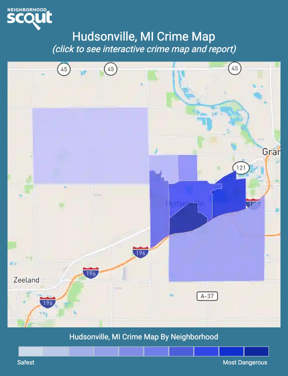 Hudsonville, Michigan crime map