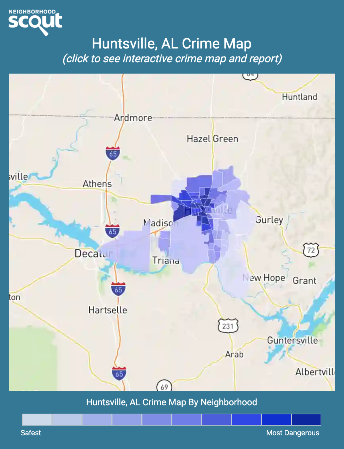 Huntsville, Alabama crime map
