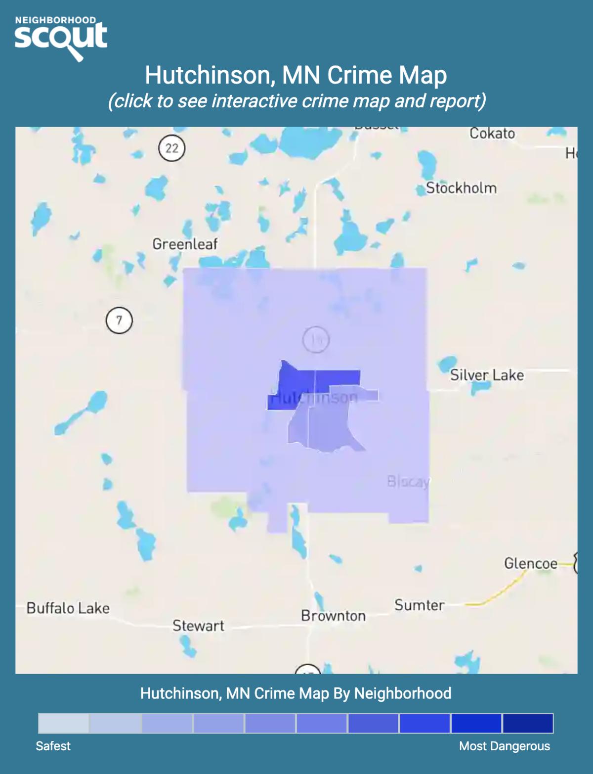 Hutchinson, Minnesota crime map