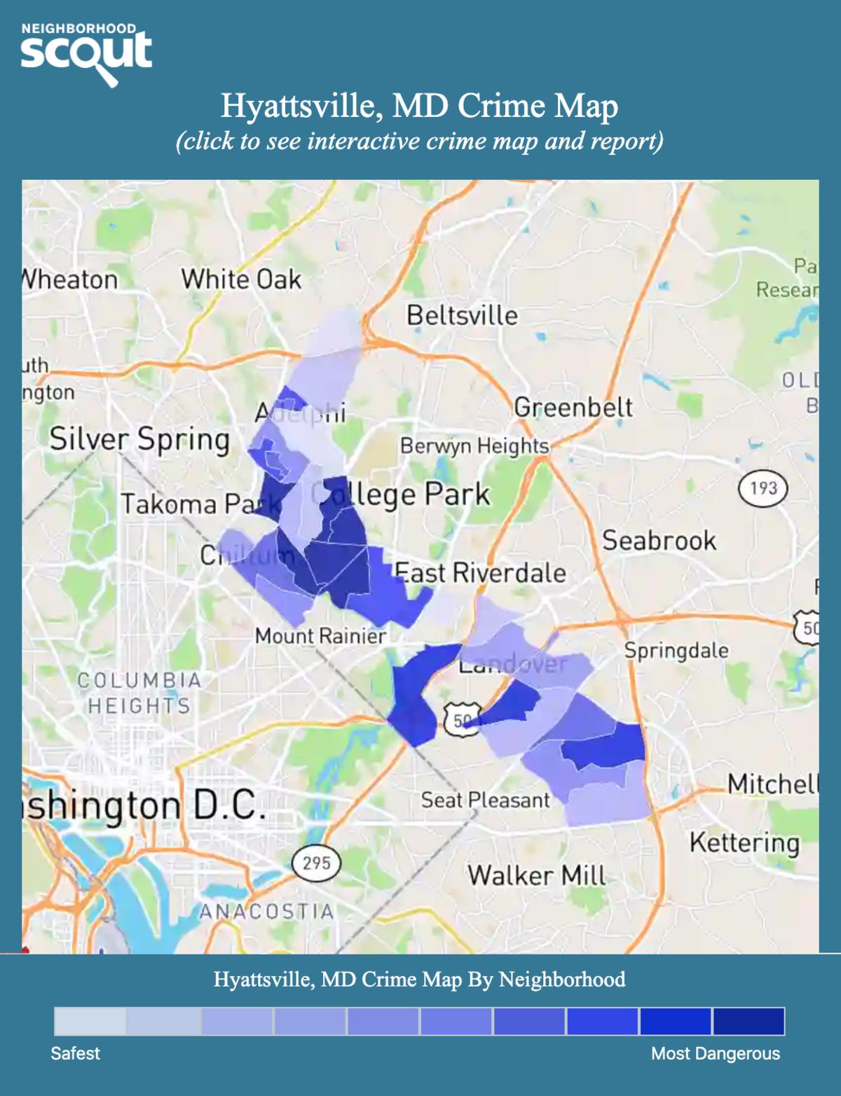 Hyattsville, Maryland crime map
