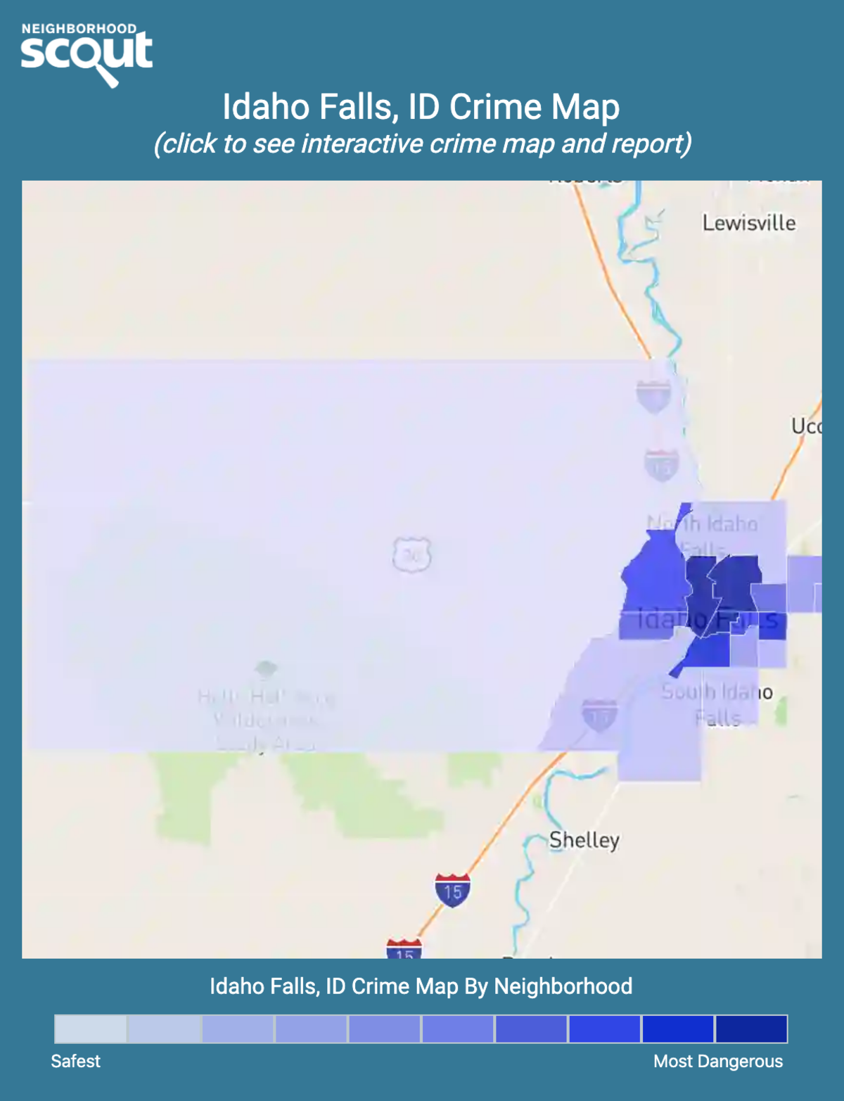 Idaho Falls, Idaho crime map