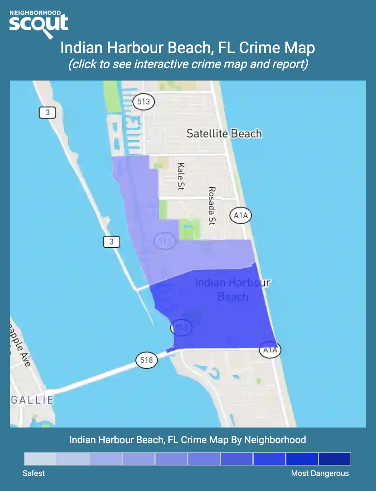 Indian Harbour Beach, Florida crime map