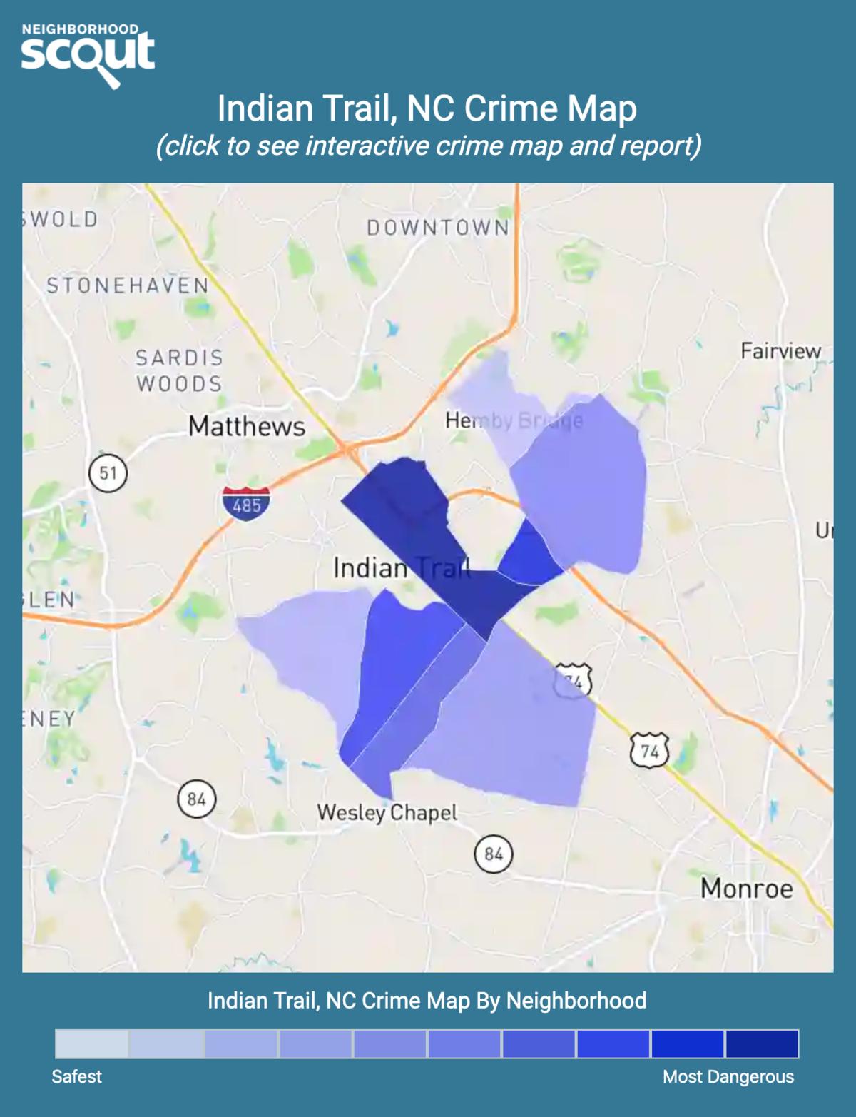 Indian Trail, North Carolina crime map