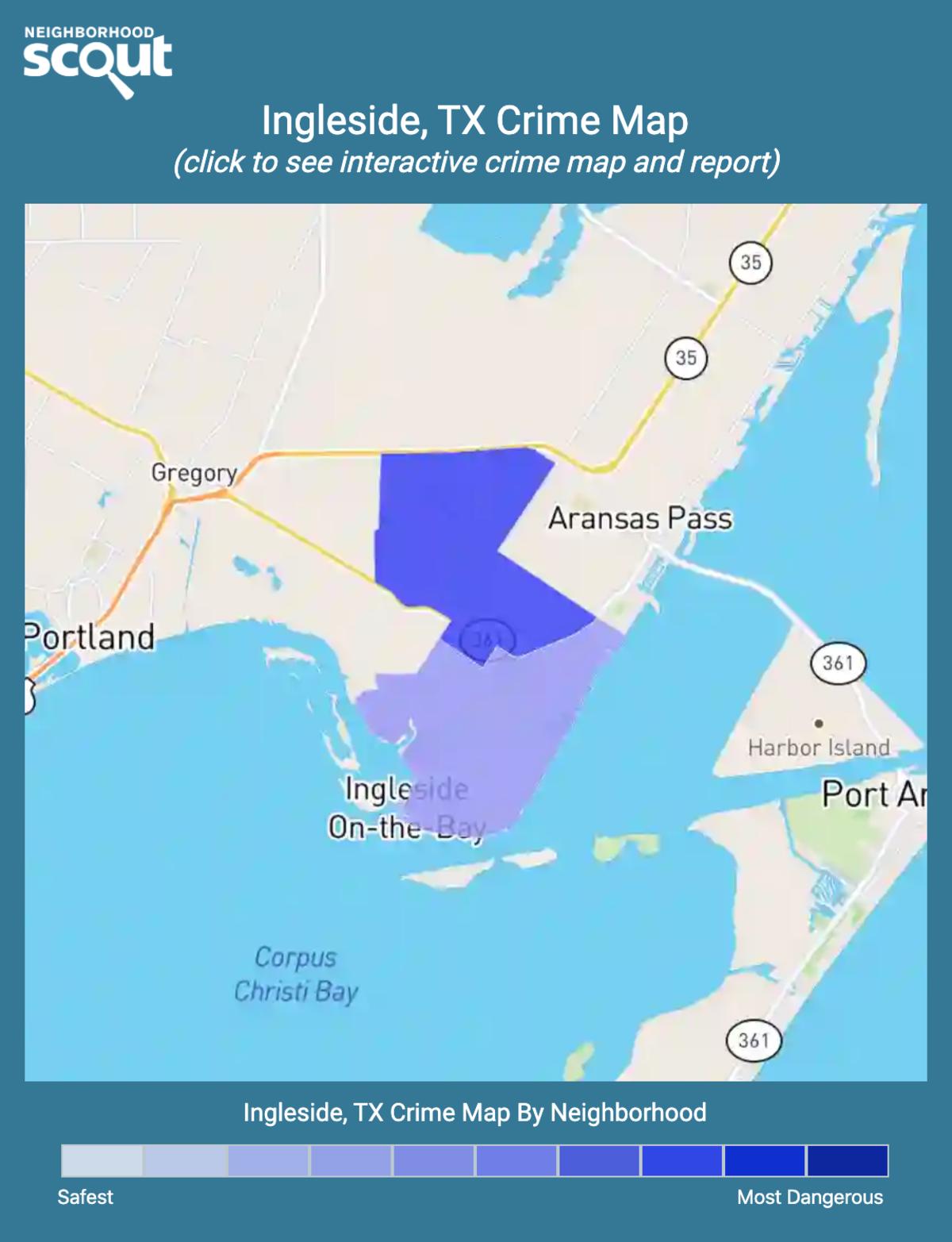 Ingleside, Texas crime map