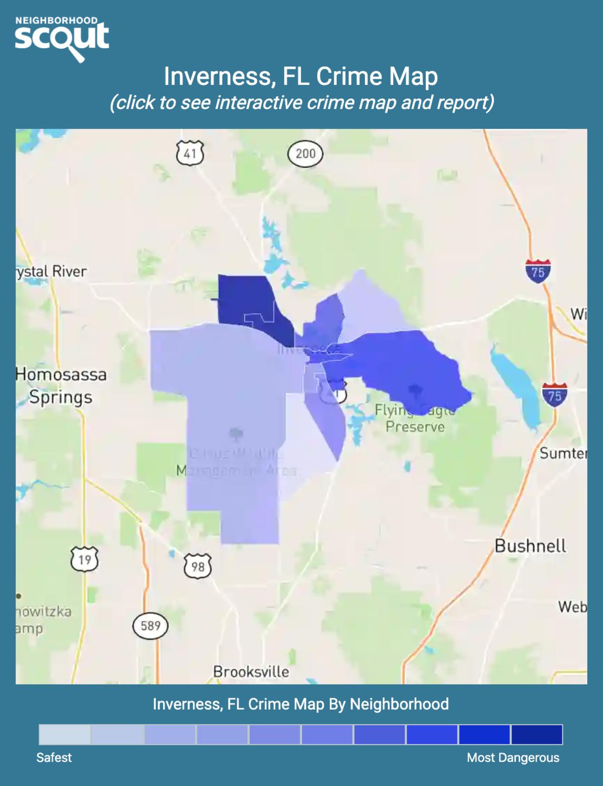 Inverness, Florida crime map