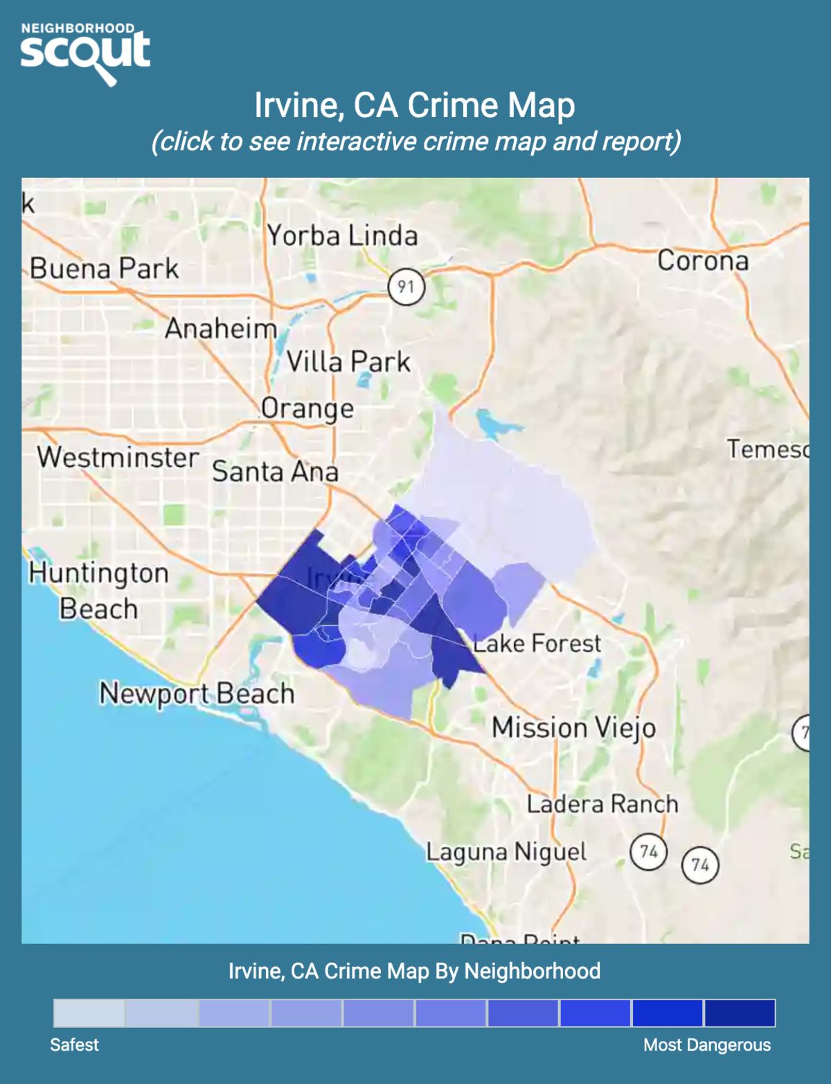 Irvine, California crime map