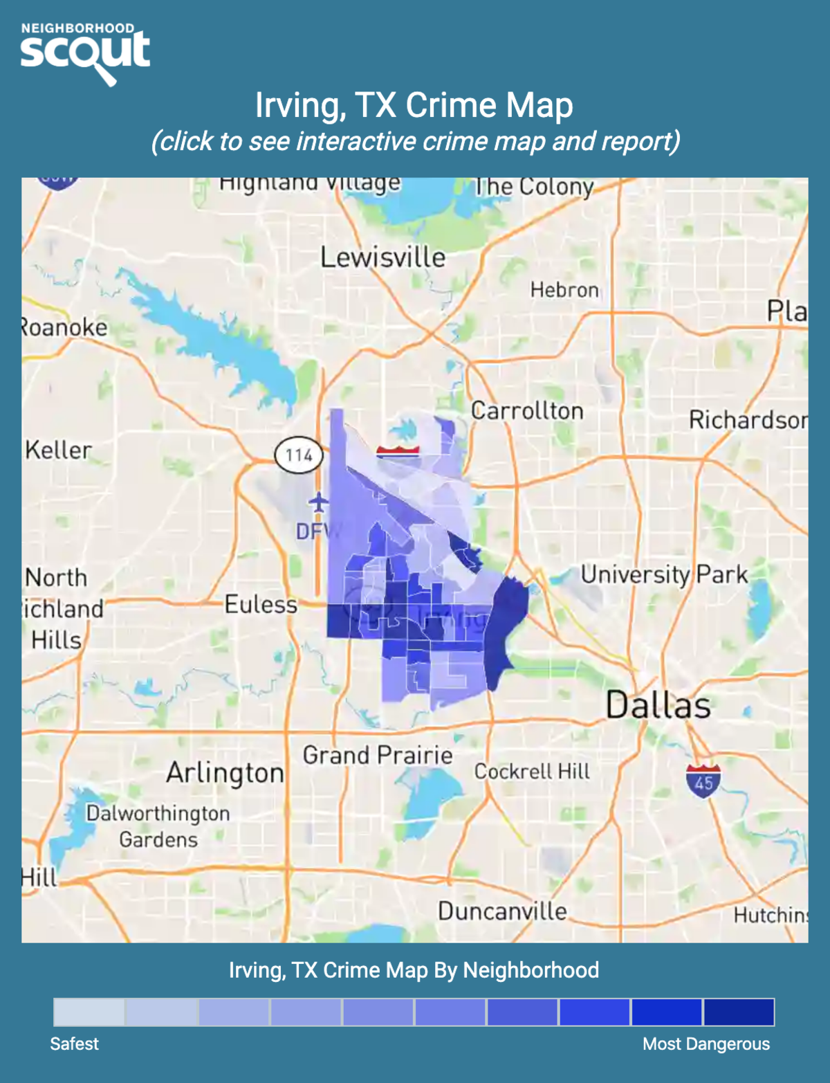 Irving, Texas crime map