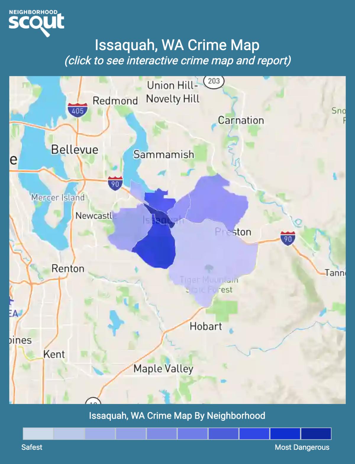 Issaquah, Washington crime map