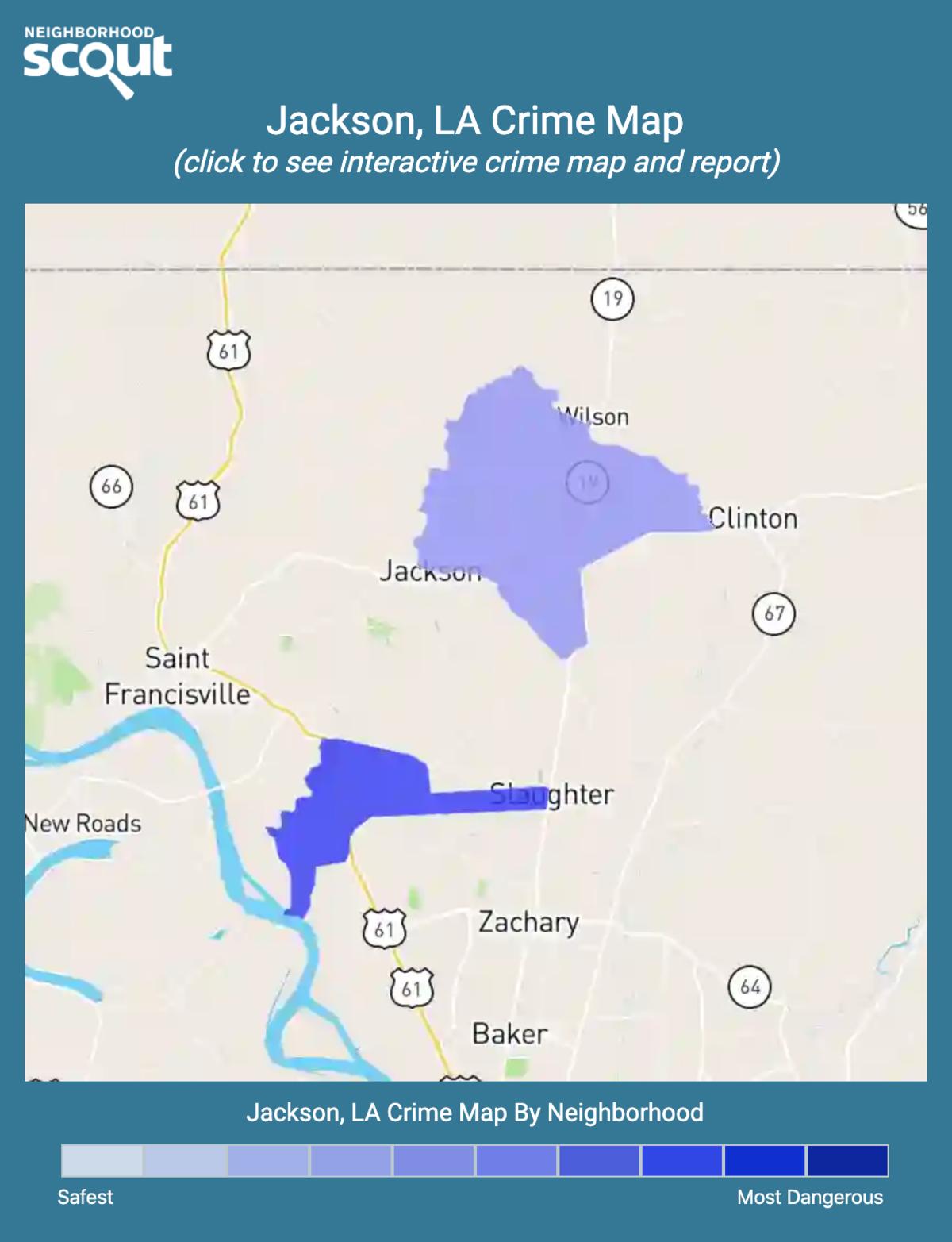 Jackson, Louisiana crime map