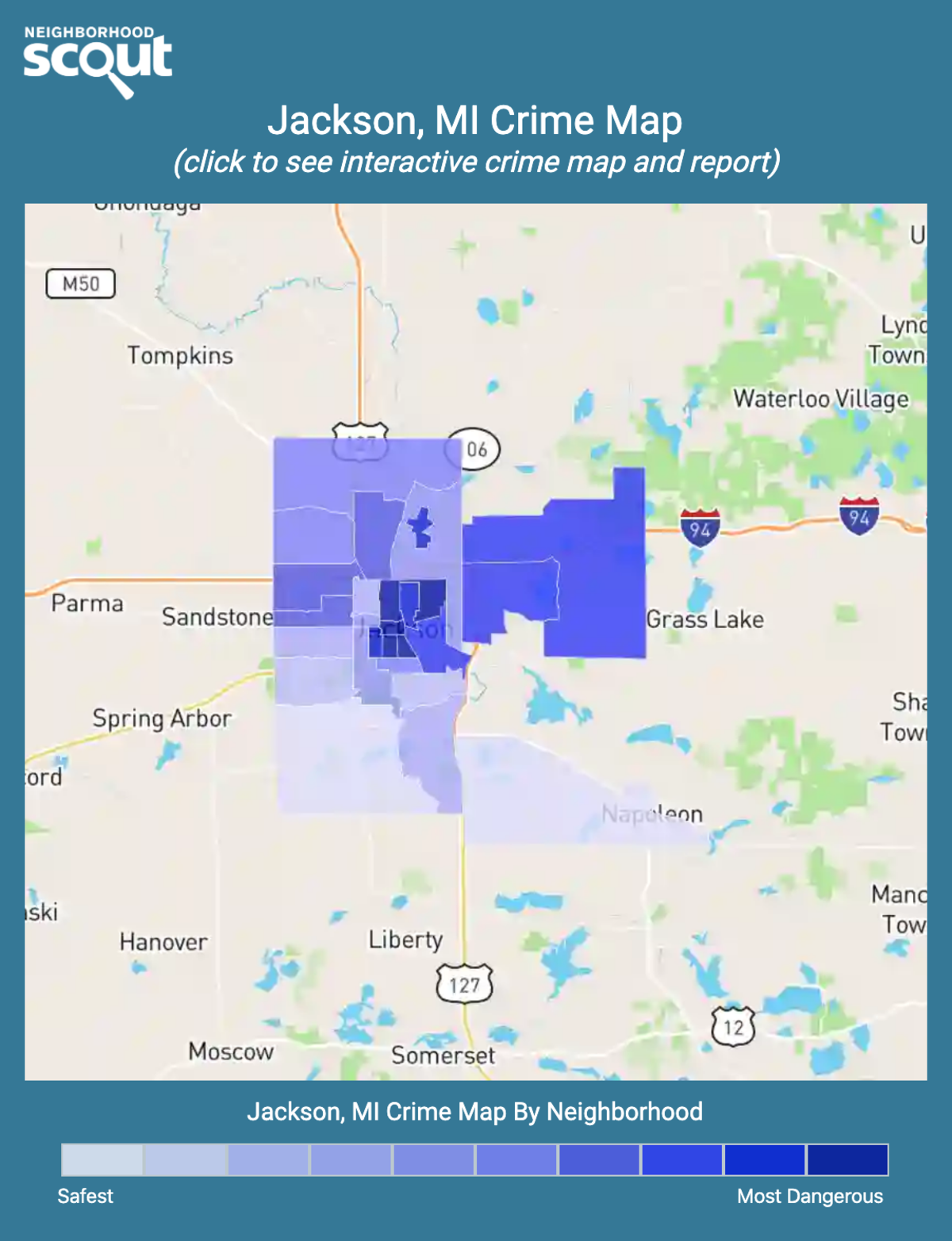Jackson, Michigan crime map