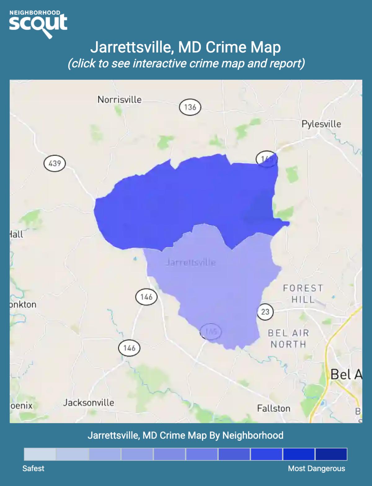 Jarrettsville, Maryland crime map