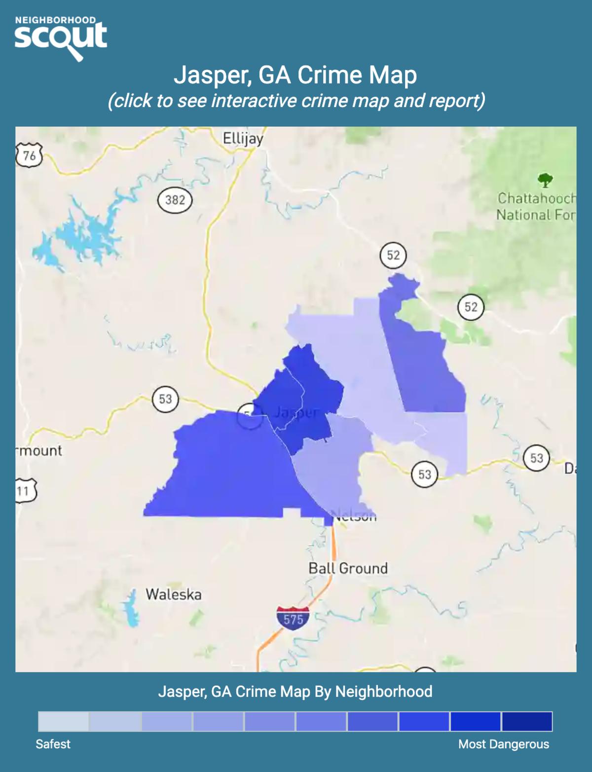 Jasper, Georgia crime map