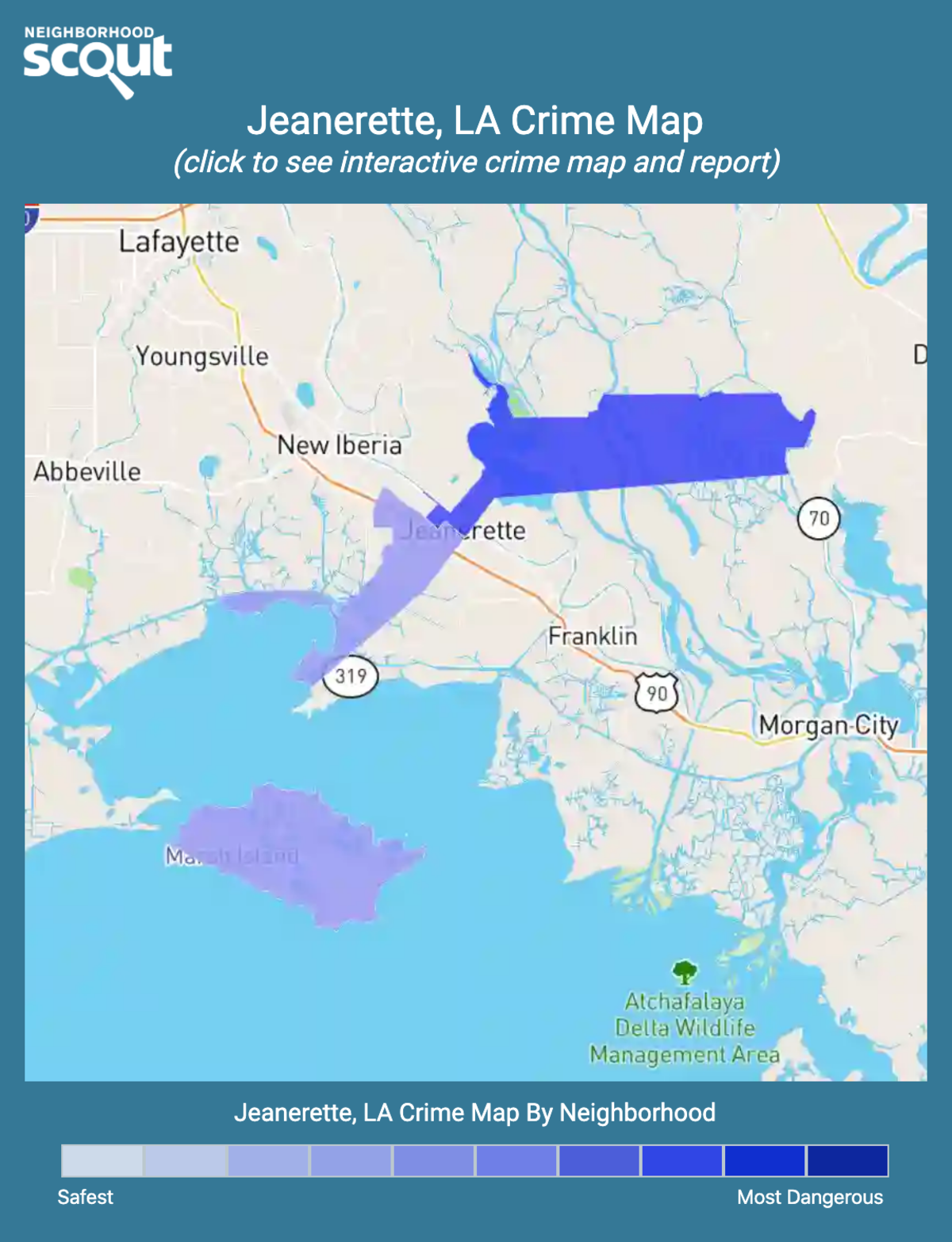 Jeanerette, Louisiana crime map