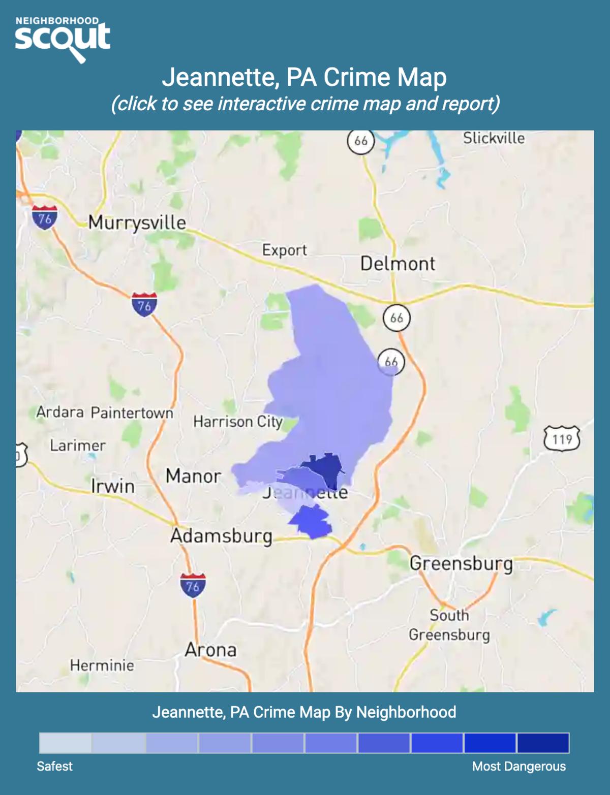 Jeannette, Pennsylvania crime map