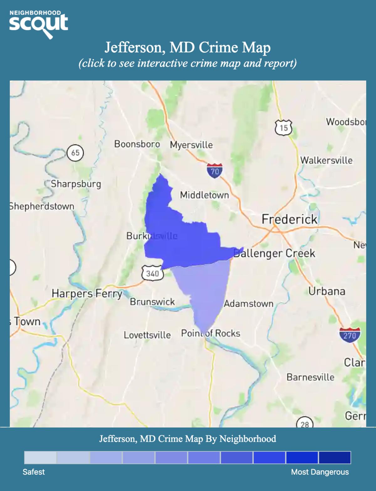 Jefferson, Maryland crime map