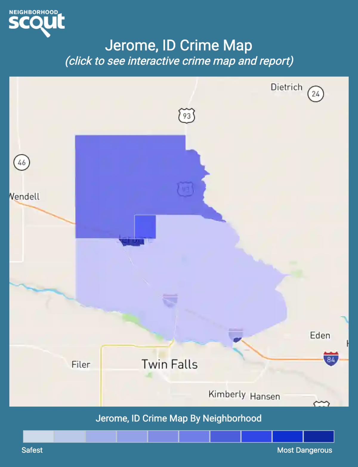 Jerome, Idaho crime map