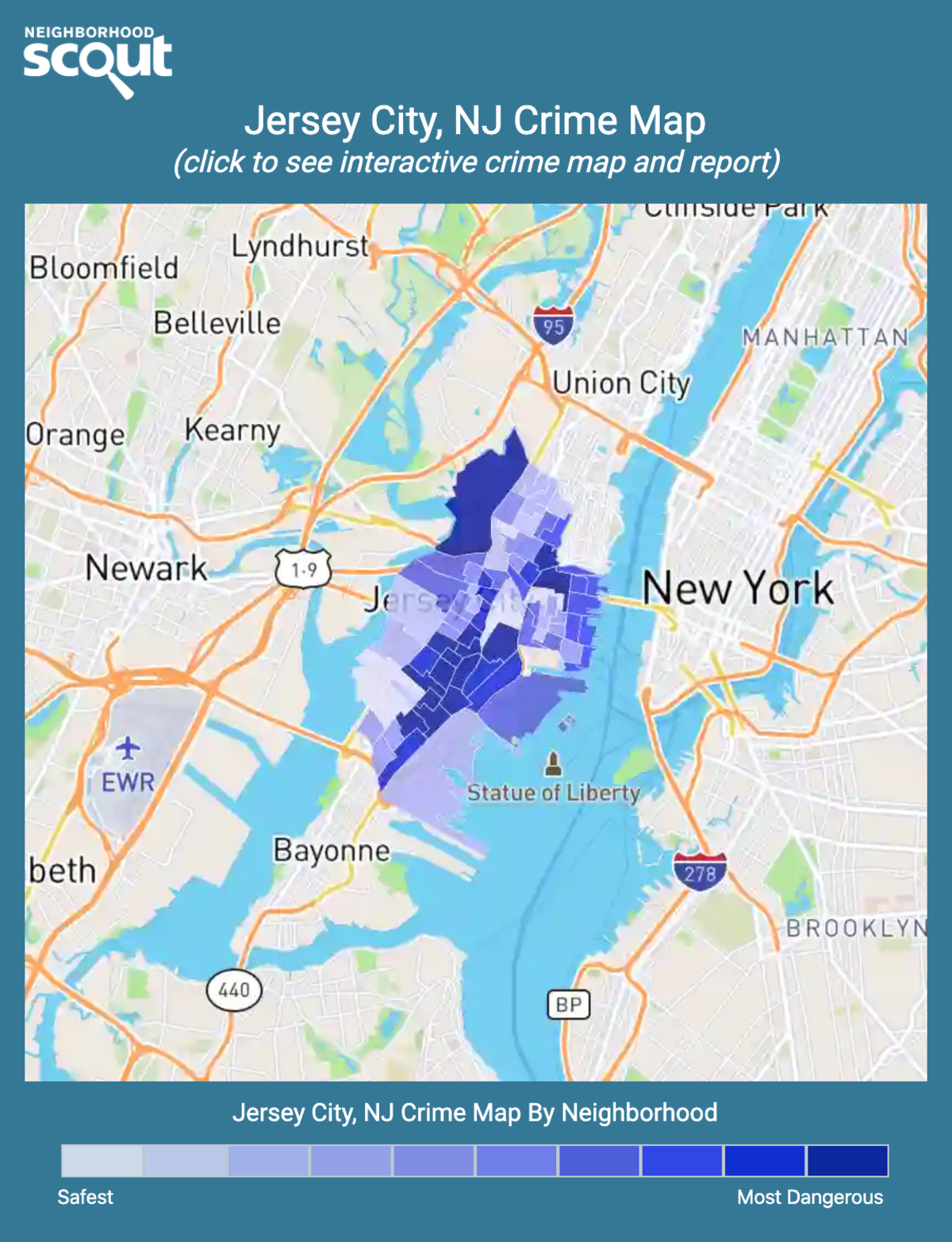 Jersey City, New Jersey crime map