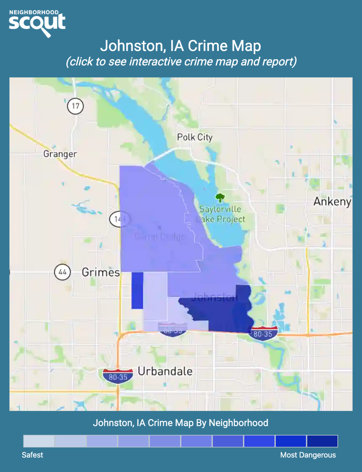 Johnston, Iowa crime map
