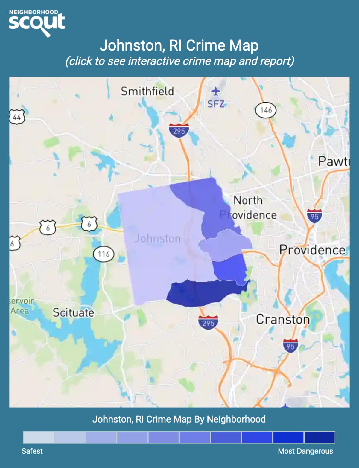 Johnston, Rhode Island crime map