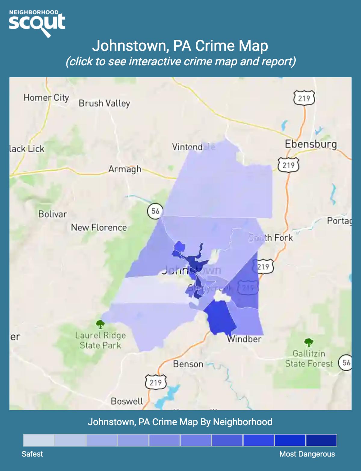 Johnstown, Pennsylvania crime map