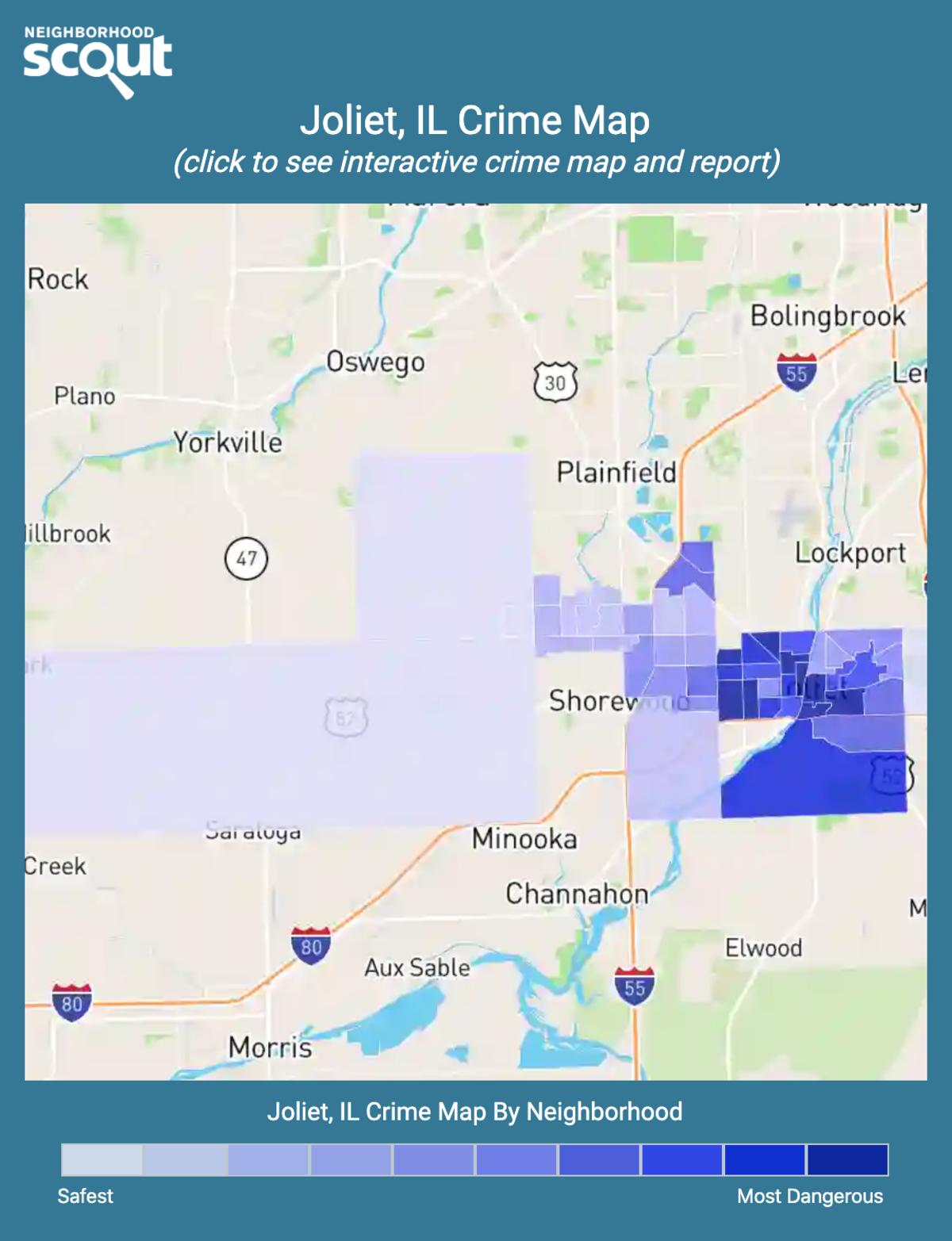 Joliet, Illinois crime map