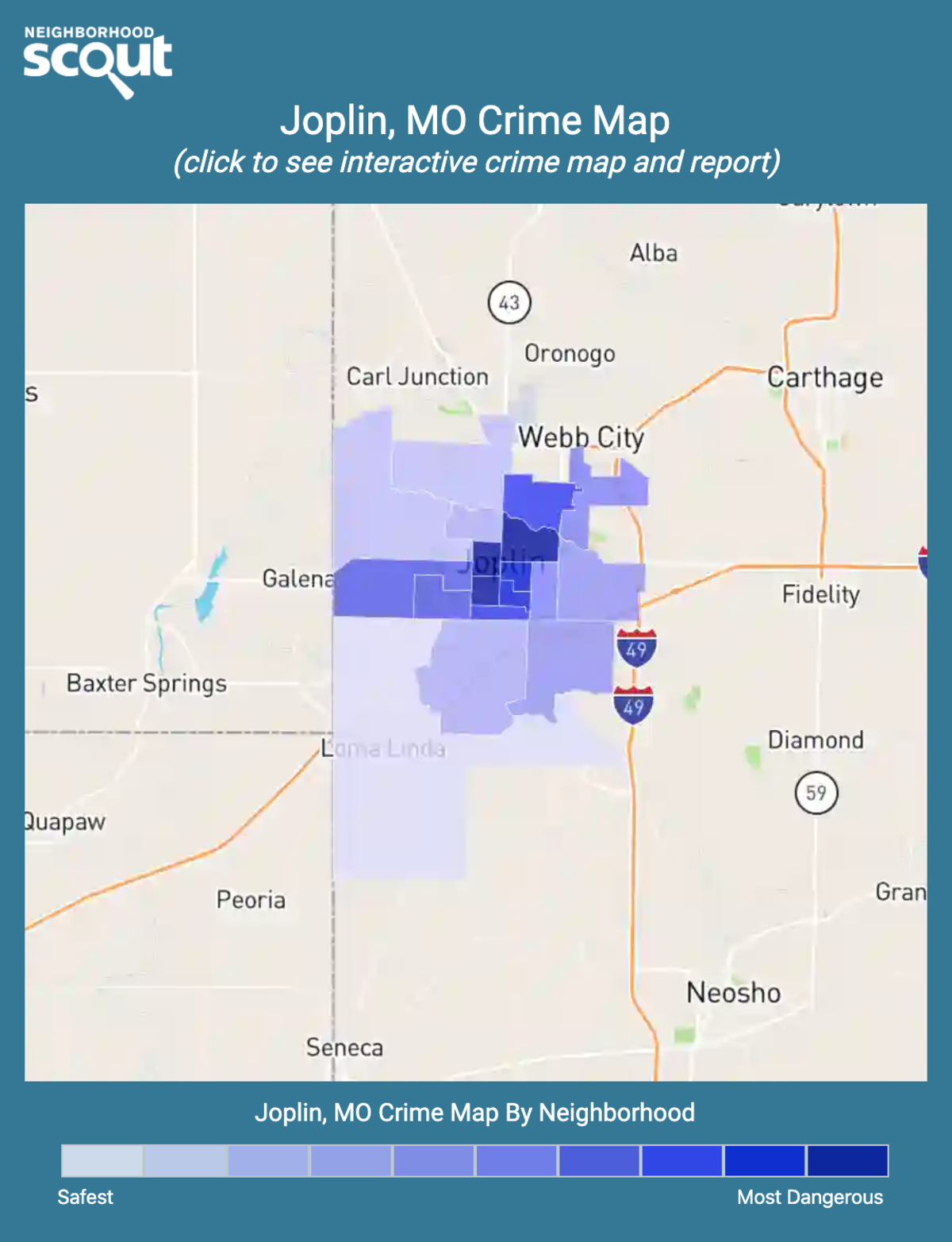 Joplin, Missouri crime map