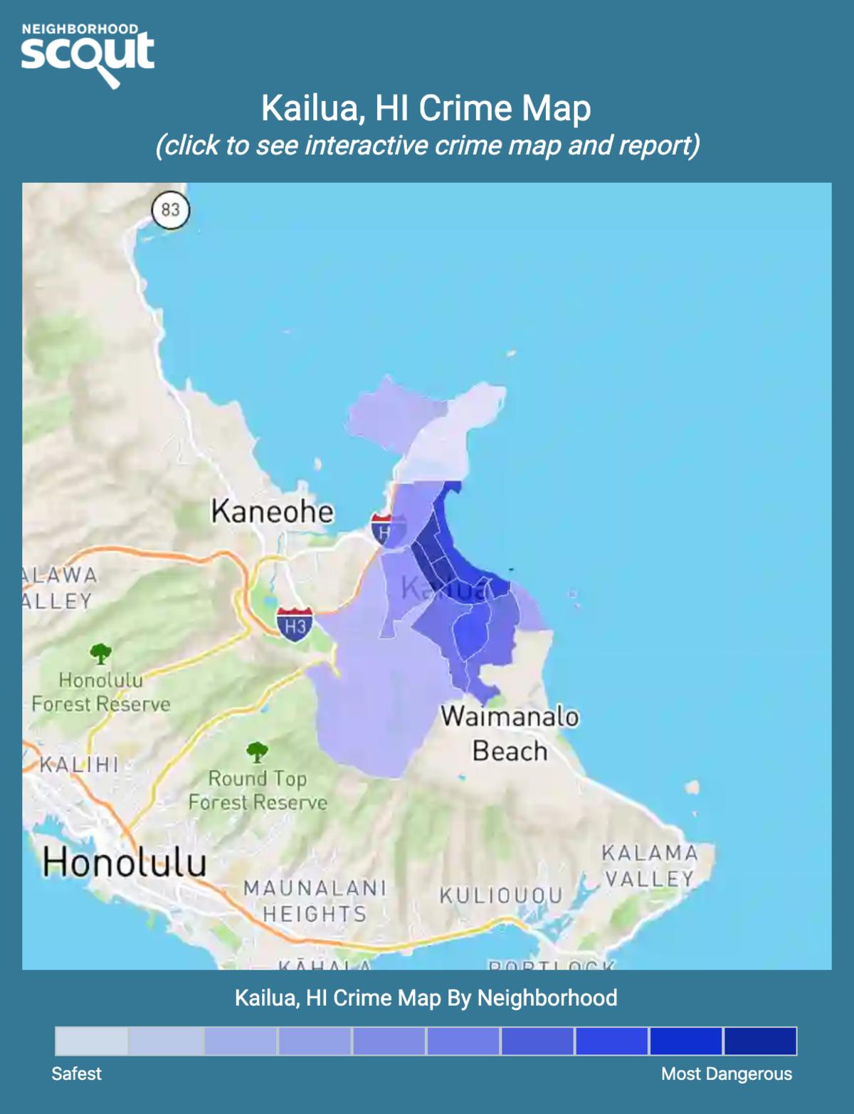 Kailua, Hawaii crime map