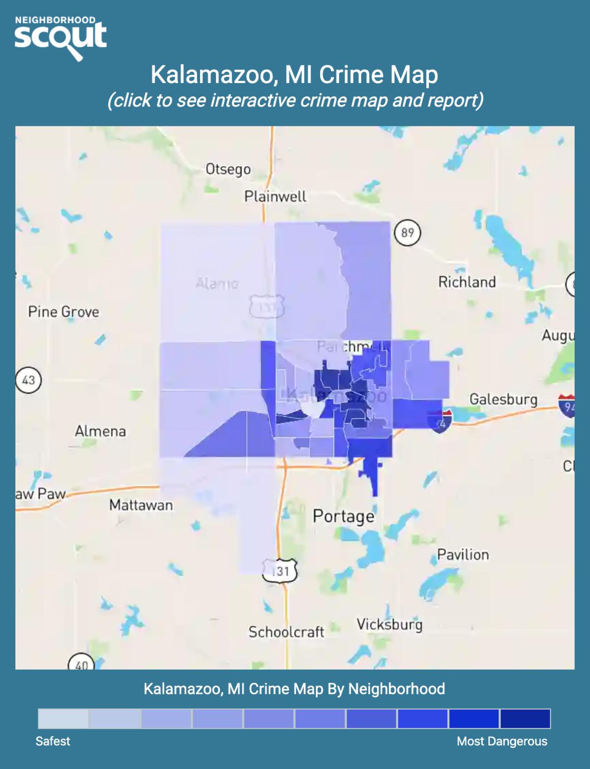 Kalamazoo, Michigan crime map