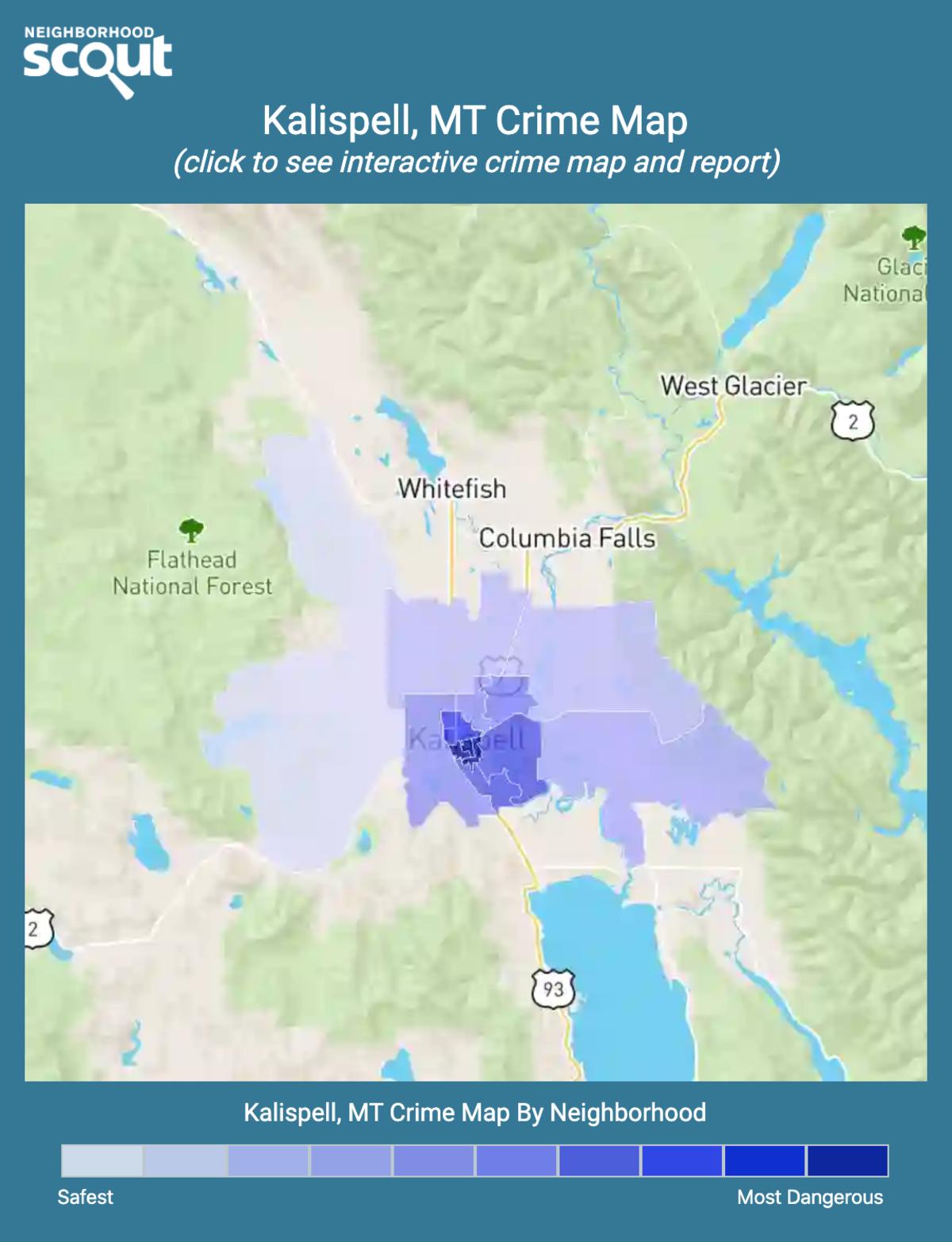 Kalispell, Montana crime map