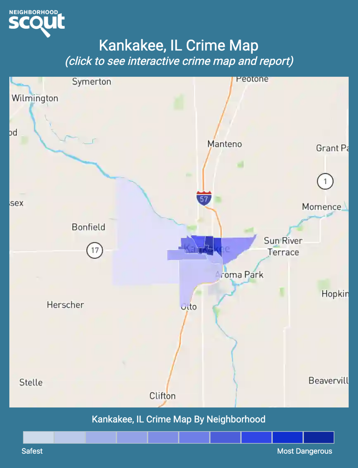 Kankakee, Illinois crime map