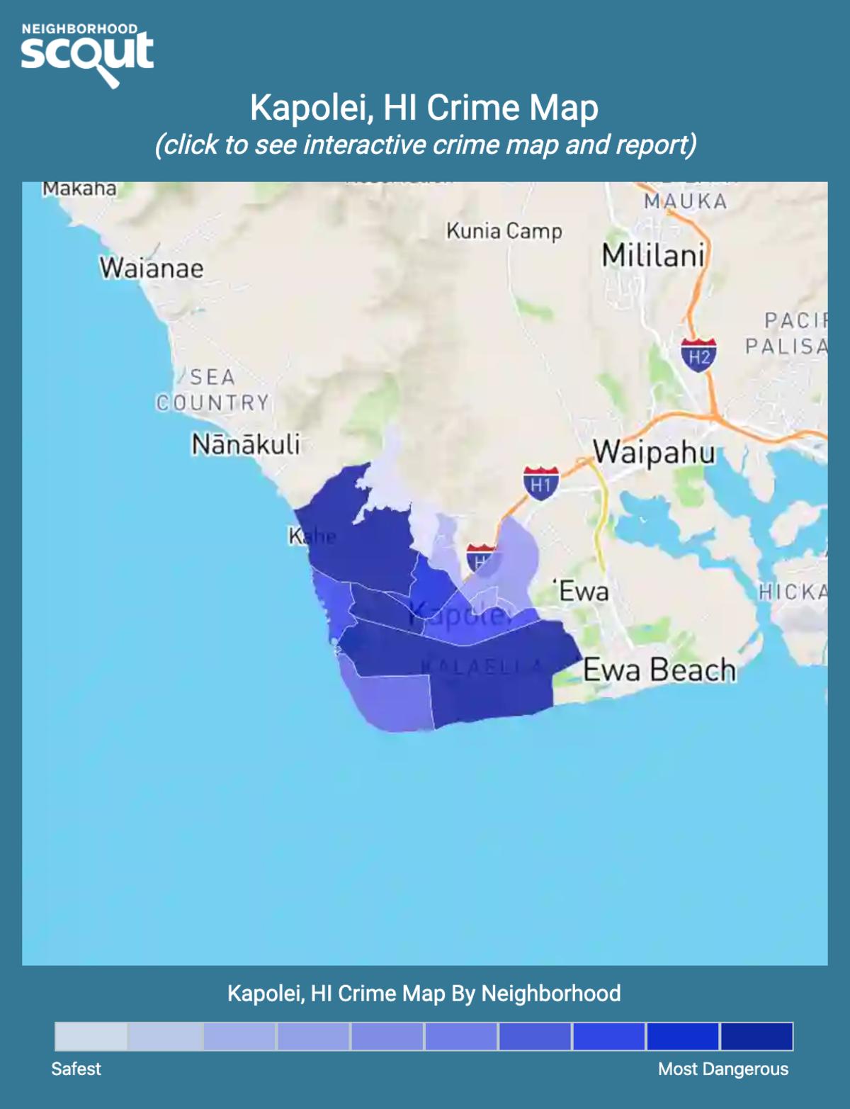 Kapolei, Hawaii crime map
