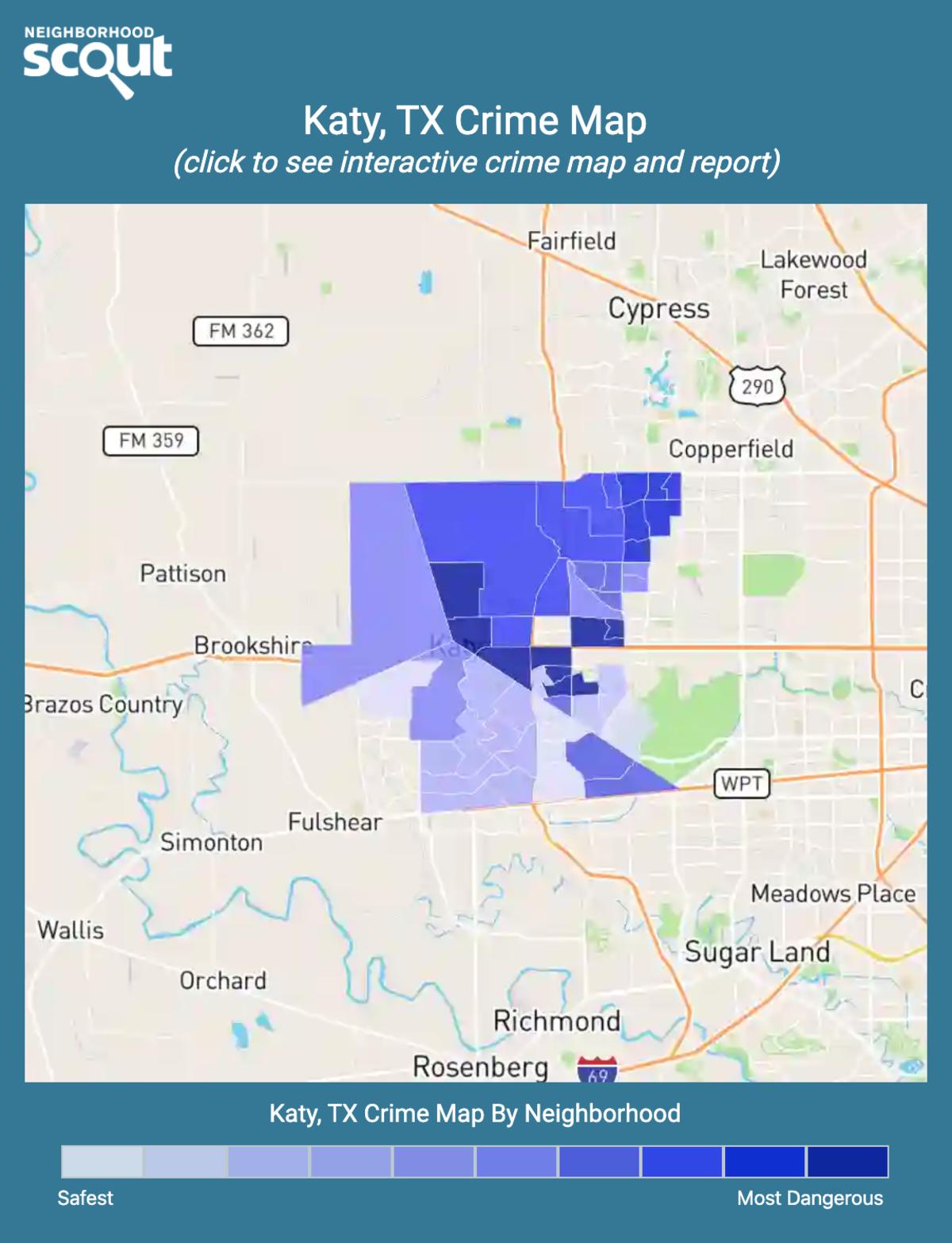 Katy, Texas crime map